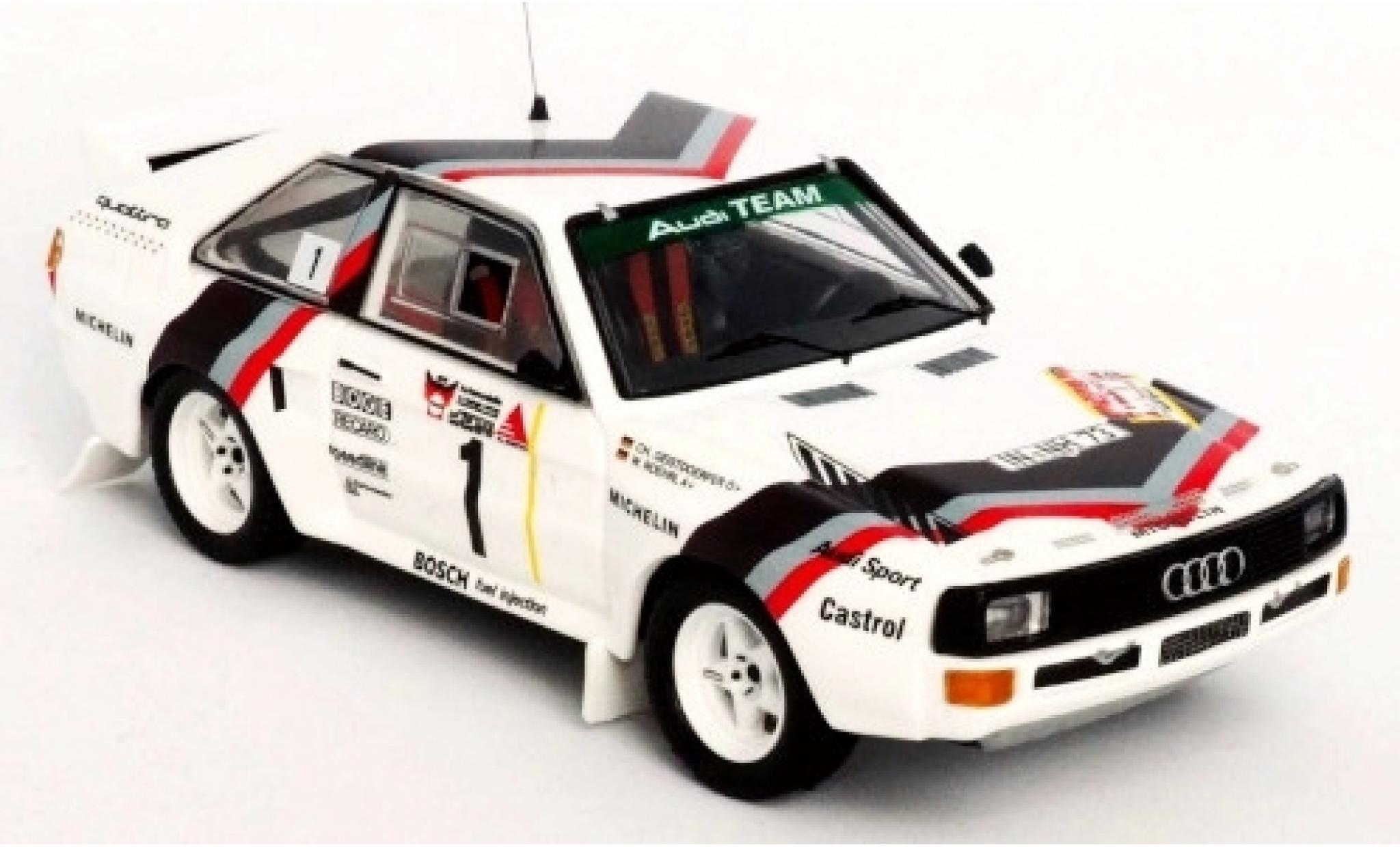Audi Sport Quattro 1/43 Trofeu Sport quattro No.1 Team Rally DM 3 Städte Rally 1984 Version: Start W.Röhrl/C.Geistdörfer