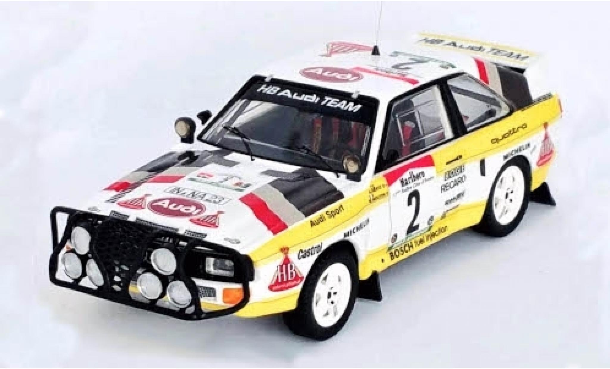 Audi Sport Quattro 1/43 Trofeu Sport quattro No.2 HB Team Rallye WM Rally Bandama 1985 M.Mouton/A.Hertz