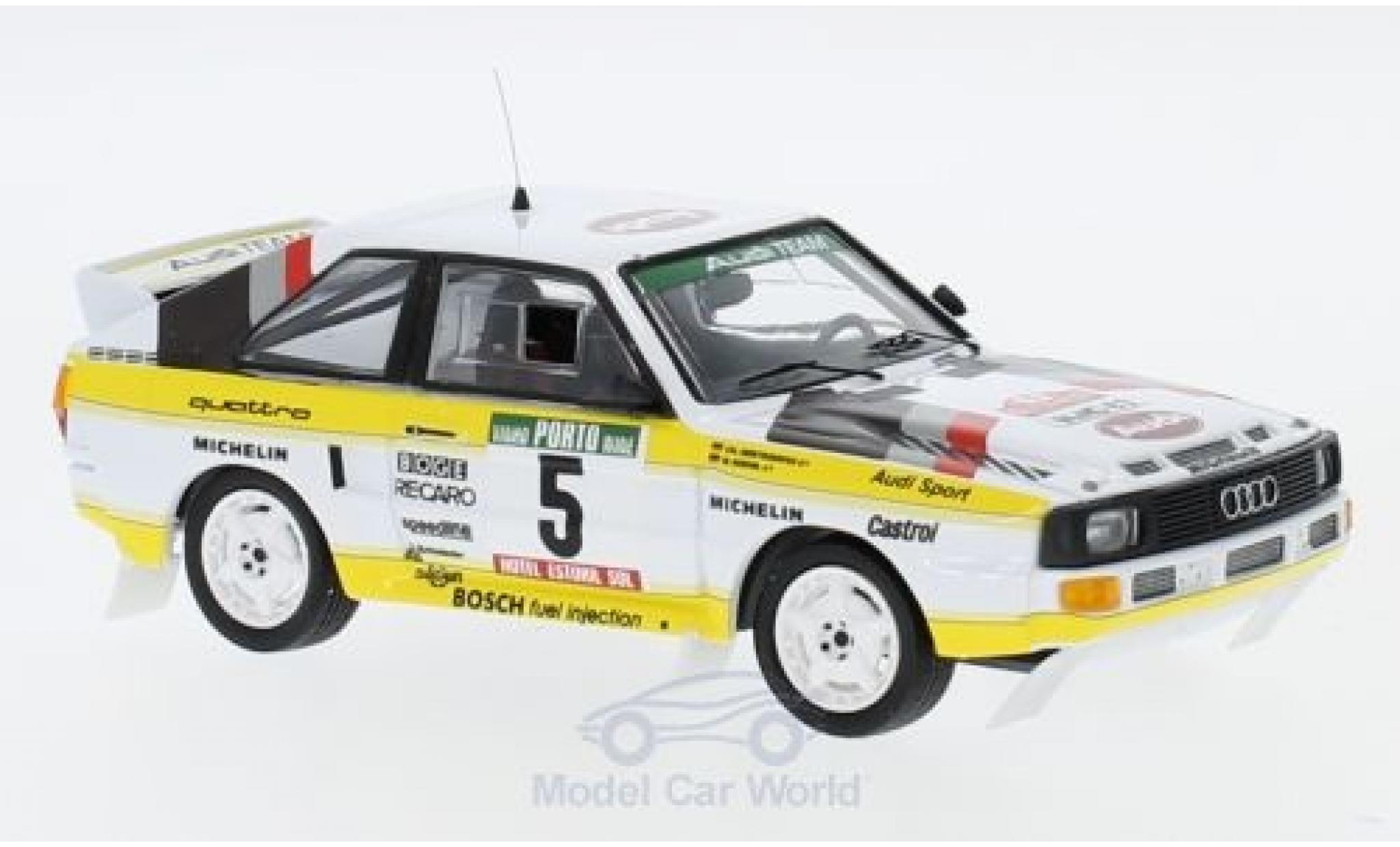 Audi Sport Quattro 1/43 Trofeu Sport quattro No.5 HB Rallye WM Rallye Portugal 1985 mit Decals W.Röhrl/C.Geistdörfer