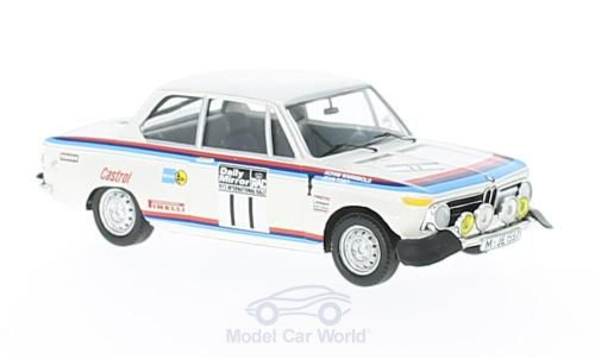 Bmw 2002 Ti 1/43 Trofeu BMW ti No.11 RAC Rallye 1973 A.Warmbold/J.Todt