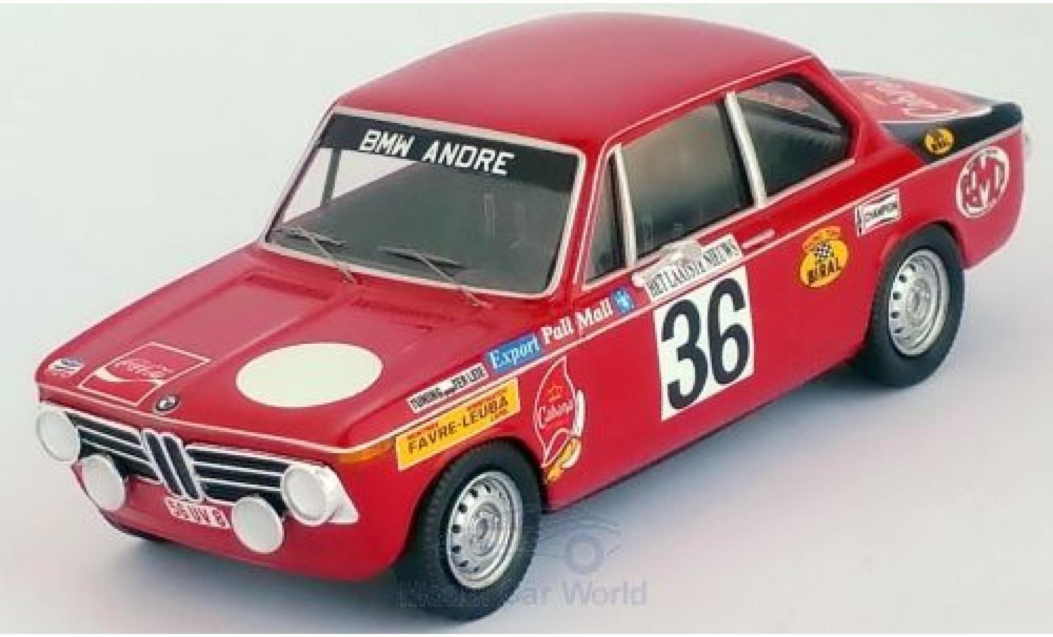 Bmw 2002 1/43 Trofeu ti No.36 Rally Ypres 1971 Pedro/Jimmy