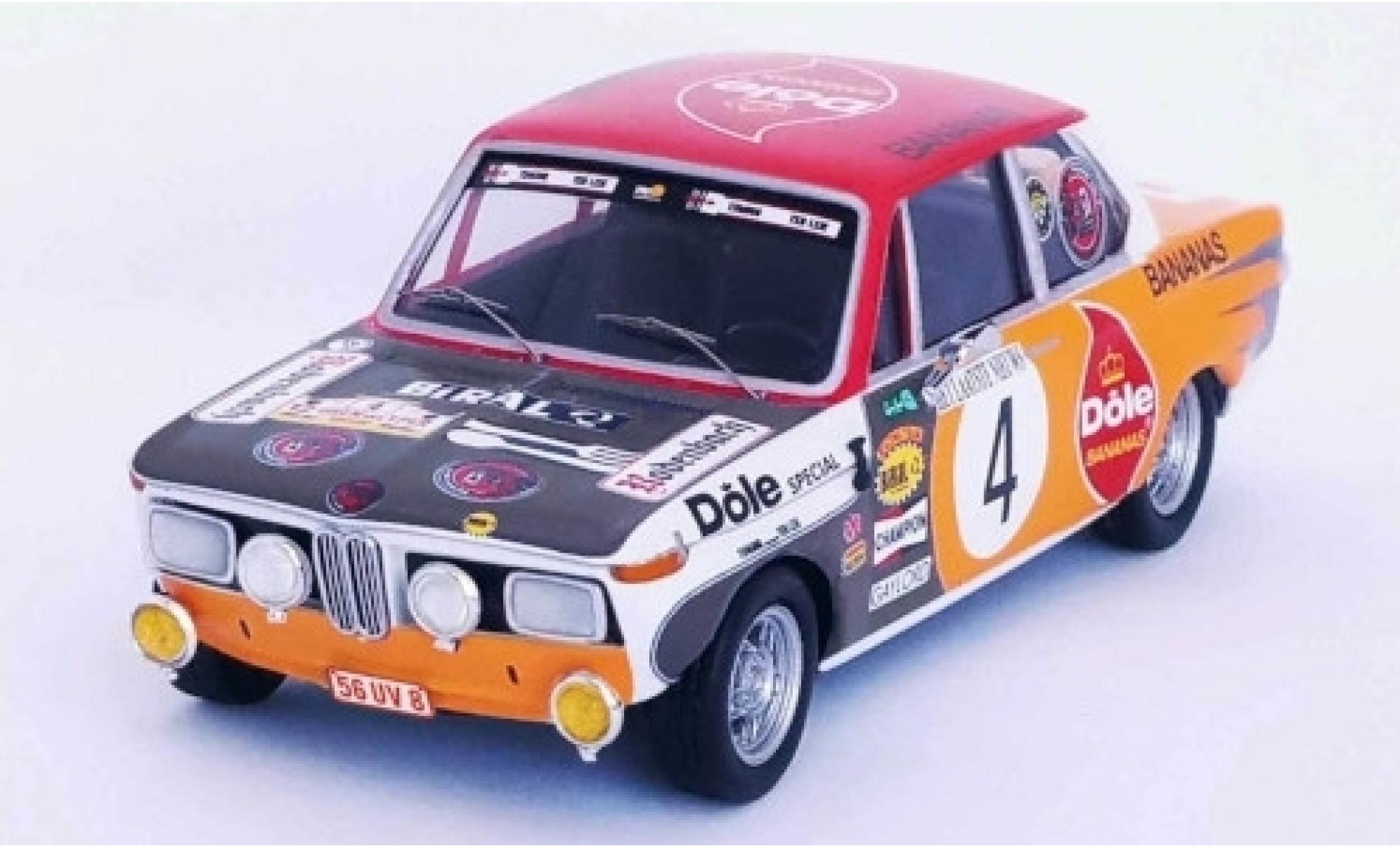 Bmw 2002 1/43 Trofeu ti No.4 Dole Bananas Rally Ypres 1973 Pedro/Jimmy