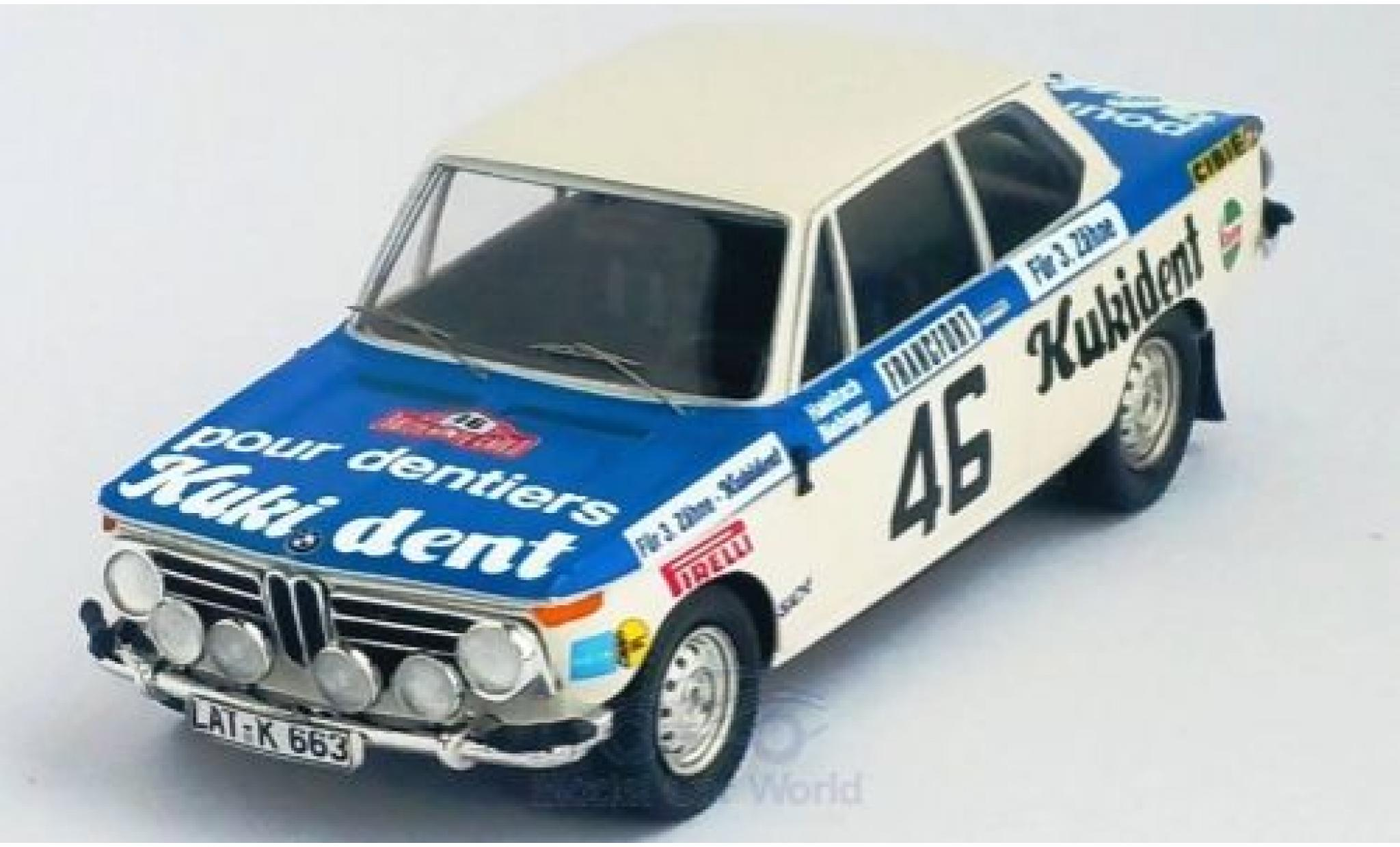 Bmw 2002 1/43 Trofeu ti No.46 Kukident Rally Monte Carlo 1973 R.Hainbach/W.Biebinger
