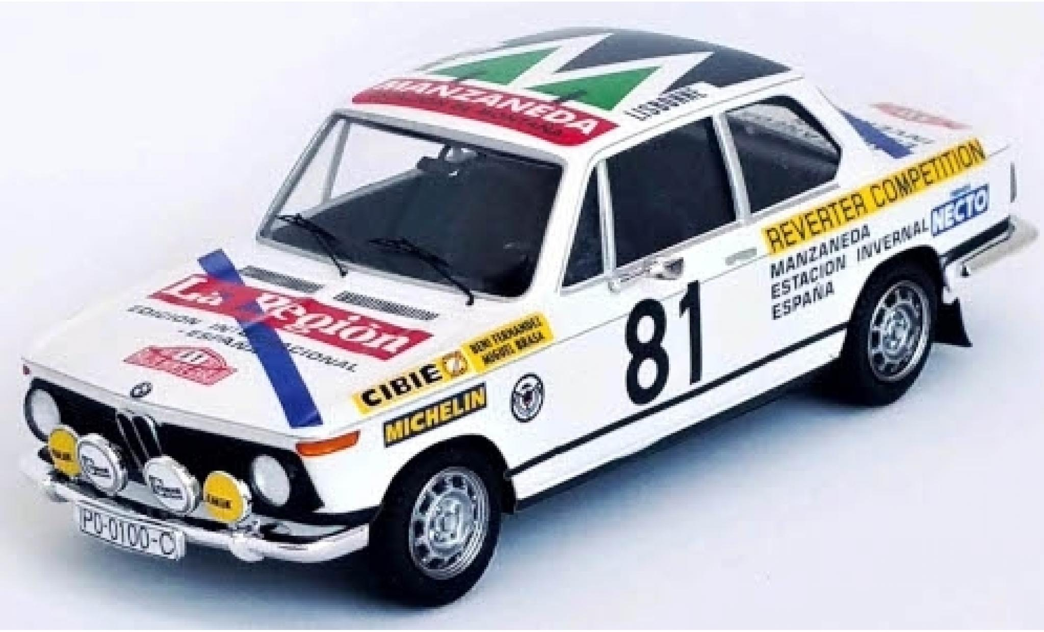 Bmw 2002 1/43 Trofeu ti No.81 Rallye WM Rally Monte Carlo 1977 B.Fernandez/M.Brasa