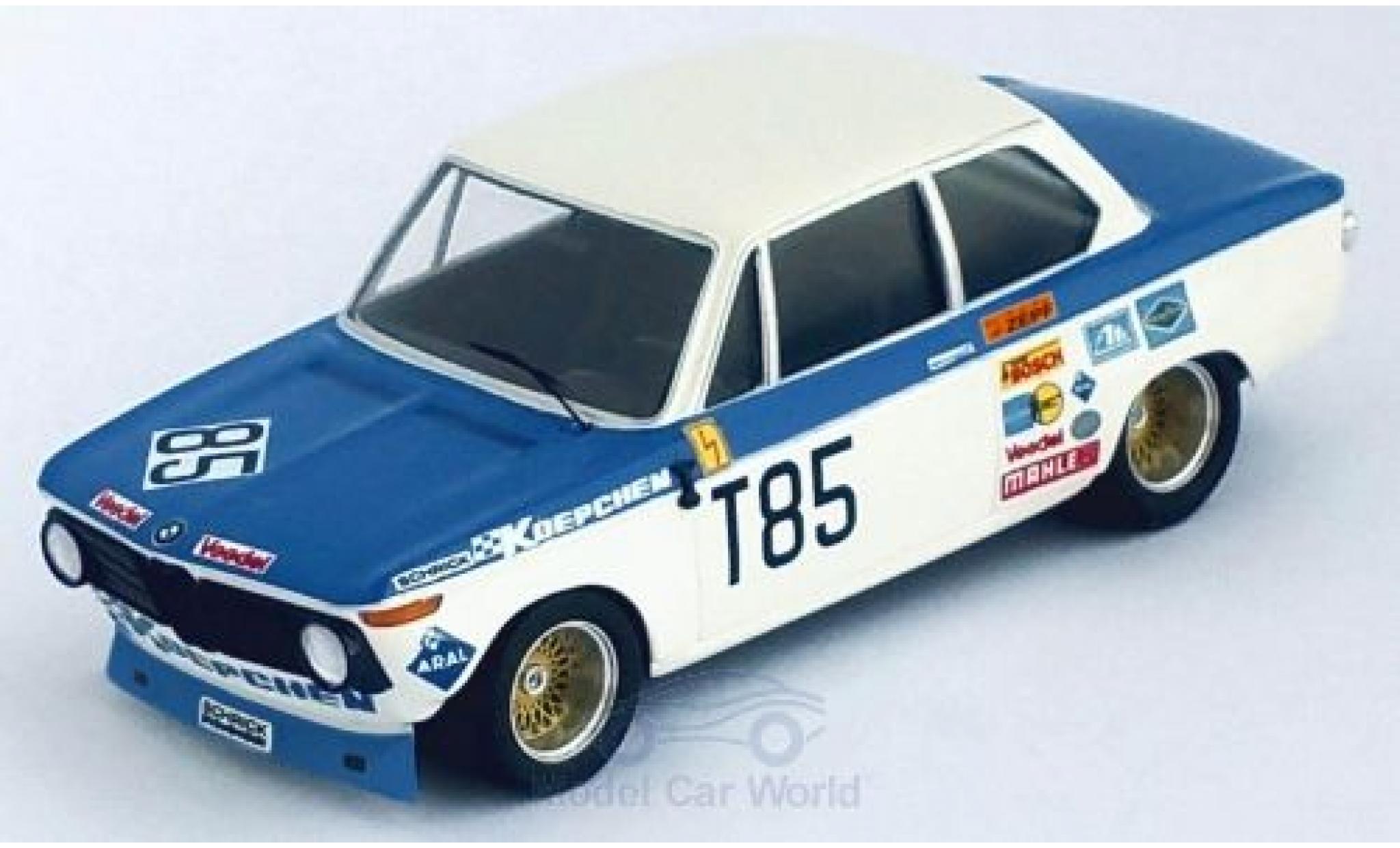 Bmw 2002 1/43 Trofeu ti No.85 1000 Km Nürburgring 1973 H.Kelleners/T.Pilette