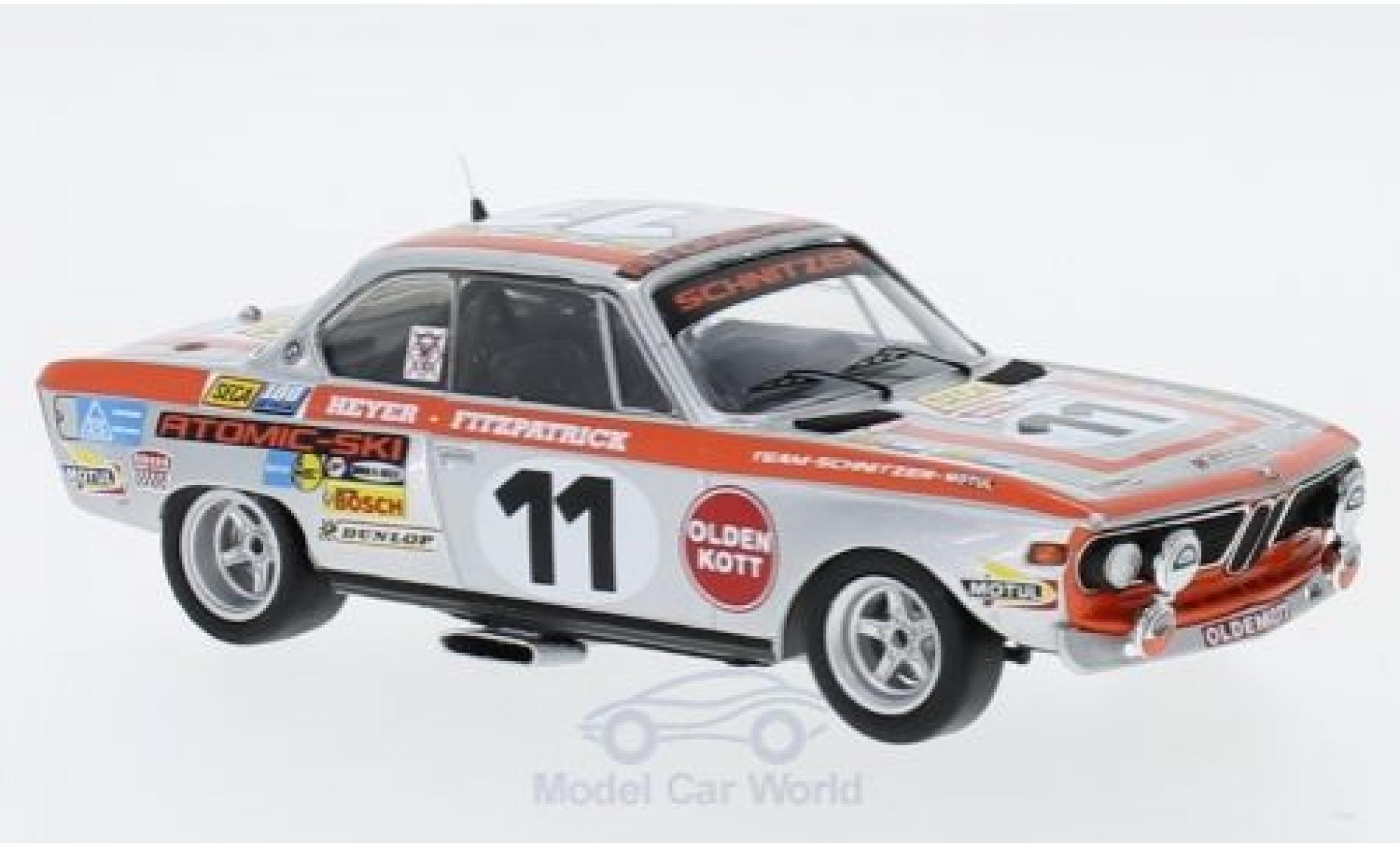 Bmw 2800 1/43 Trofeu CS No.11 Schnitzer 24h Spa 1972 J.Fitzpatrick/H.Heyer