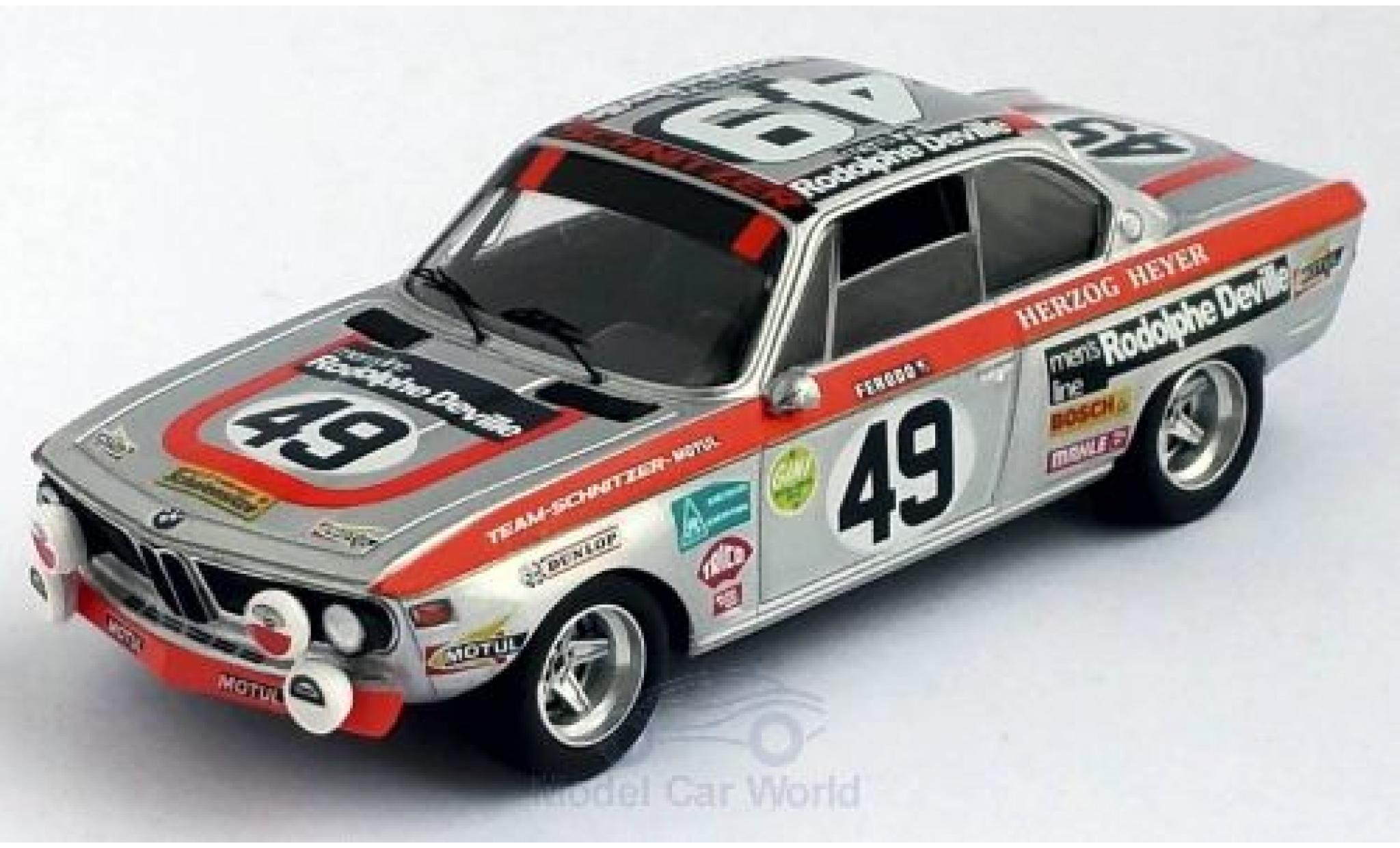 Bmw 2800 1/43 Trofeu CS No.49 Schnitzer 24h Le Mans 1972 R.Herzog/H.Heyer