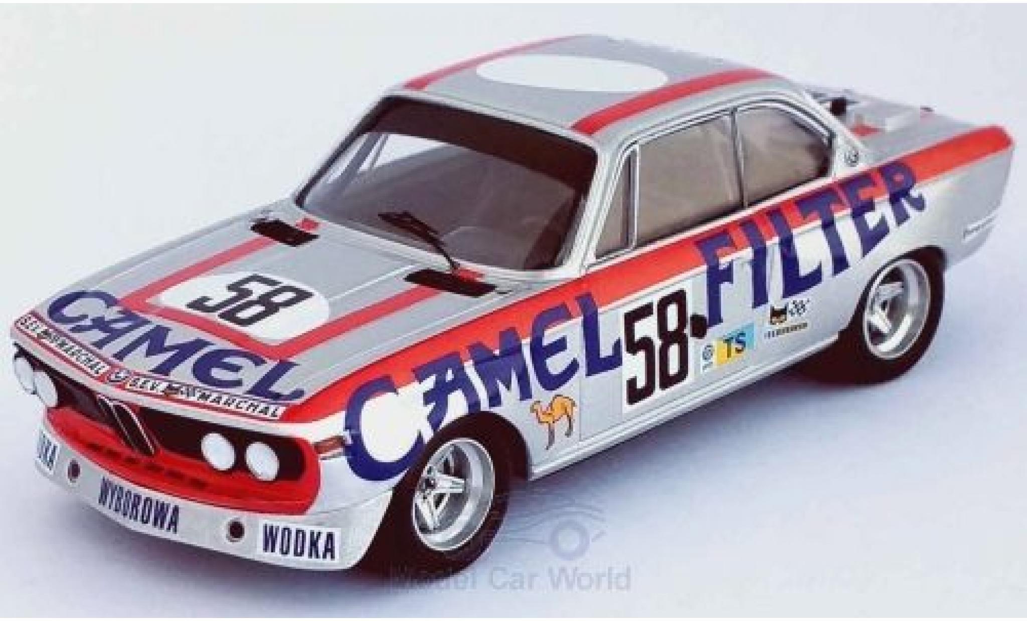 Bmw 3.0 1/43 Trofeu CSL No.58 Camel 24h Le Mans 1973 W.Brun/C.Kocher/J.-P.Aeschlimann