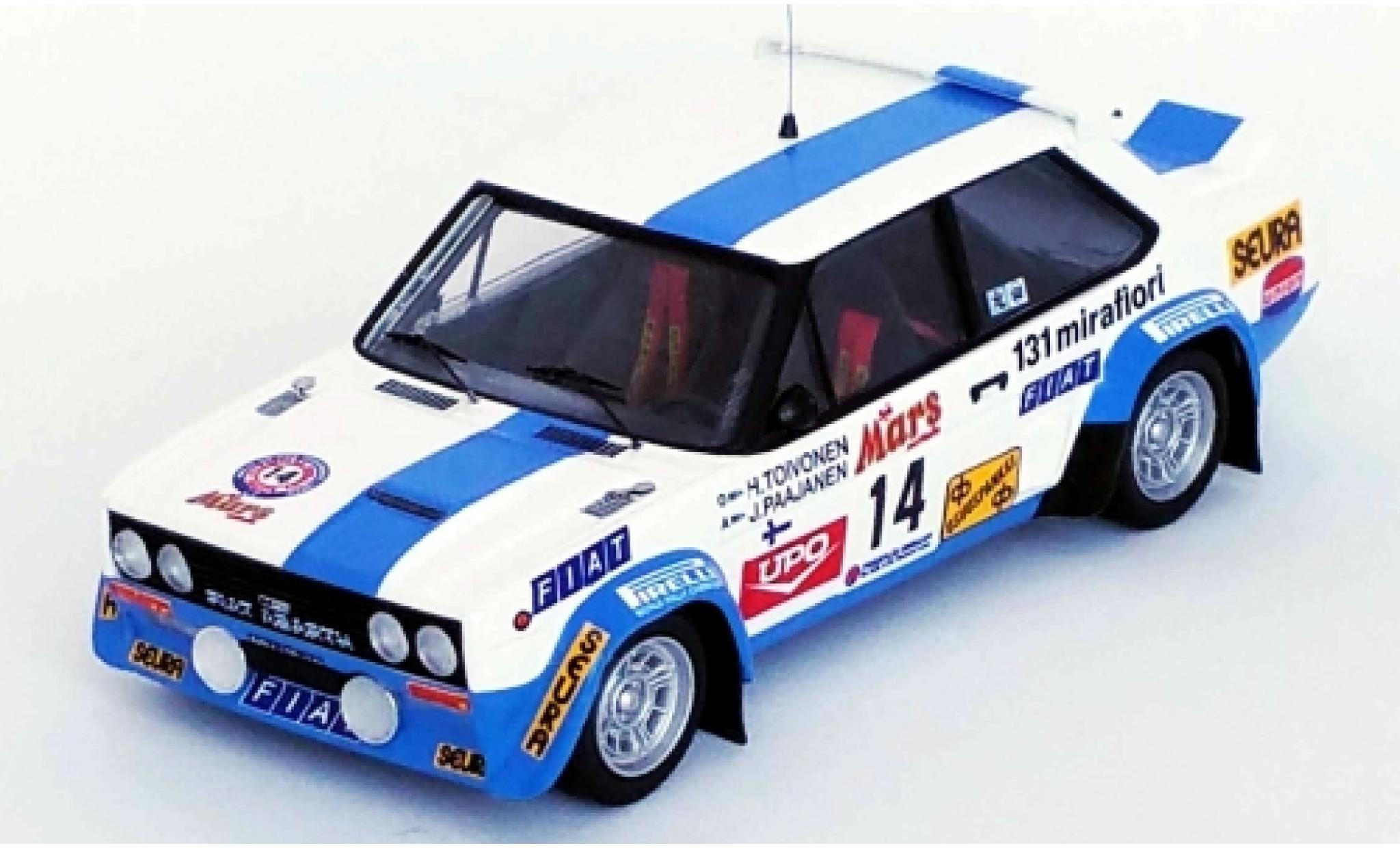 Fiat 131 1/43 Trofeu Abarth No.14 Rallye WM 1000 Lakes Rallye 1979 H.Toivonen/J.Paajanen