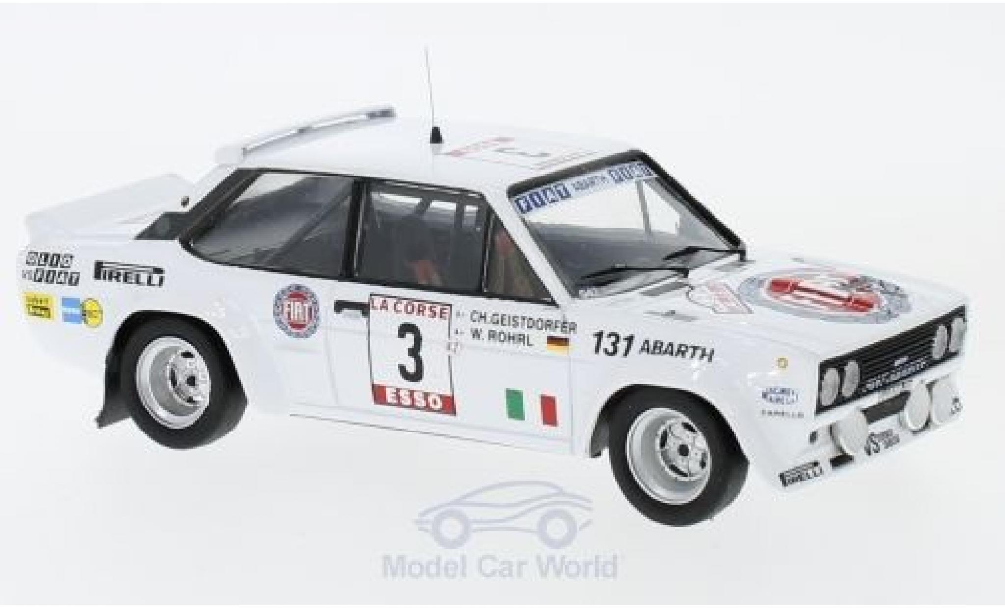 Fiat 131 1/43 Trofeu Abarth No.3 Rallye Tour de Corse 1980 W.Röhrl/C.Geistdörfer ohne Vitrine
