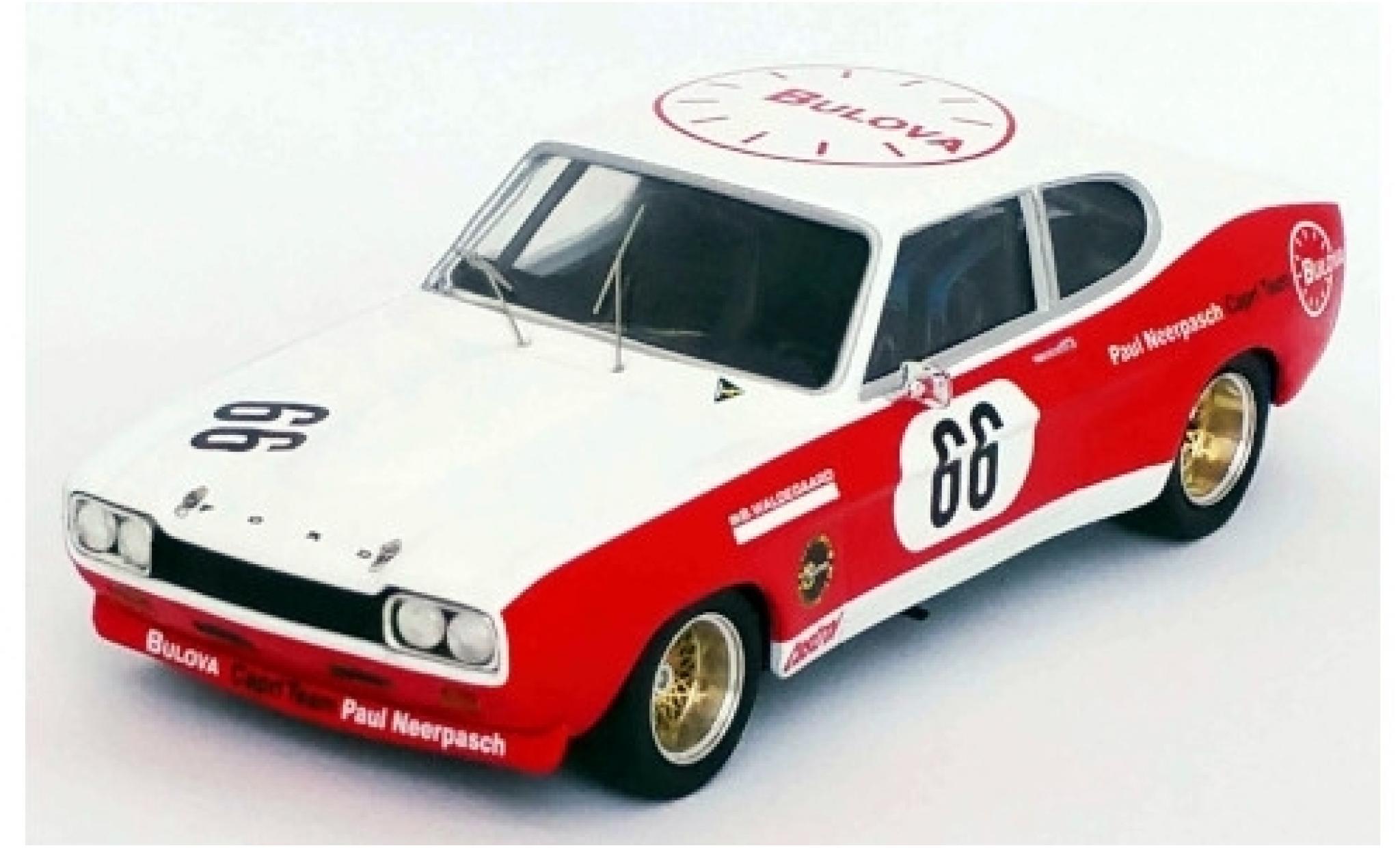 Ford Capri 1/43 Trofeu MK I RS 2600 No.66 Bulova Team Paul Neerpasch Bulova DRM 500 Km Nürburgring 1972 B.Waldegaard