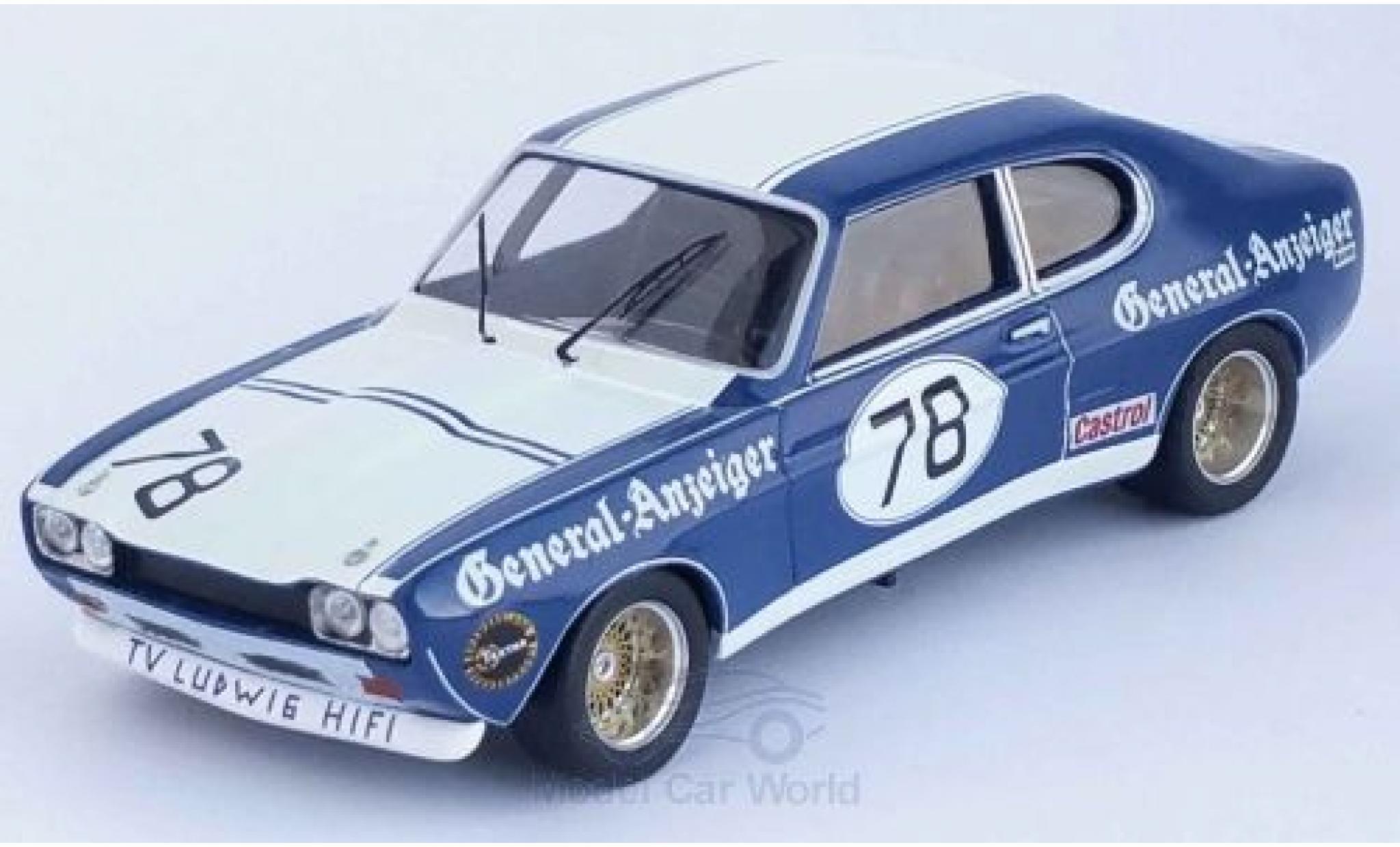 Ford Capri 1/43 Trofeu MKI RS 2600 No.78 General-Anzeiger DRM 1973 K.Ludwig