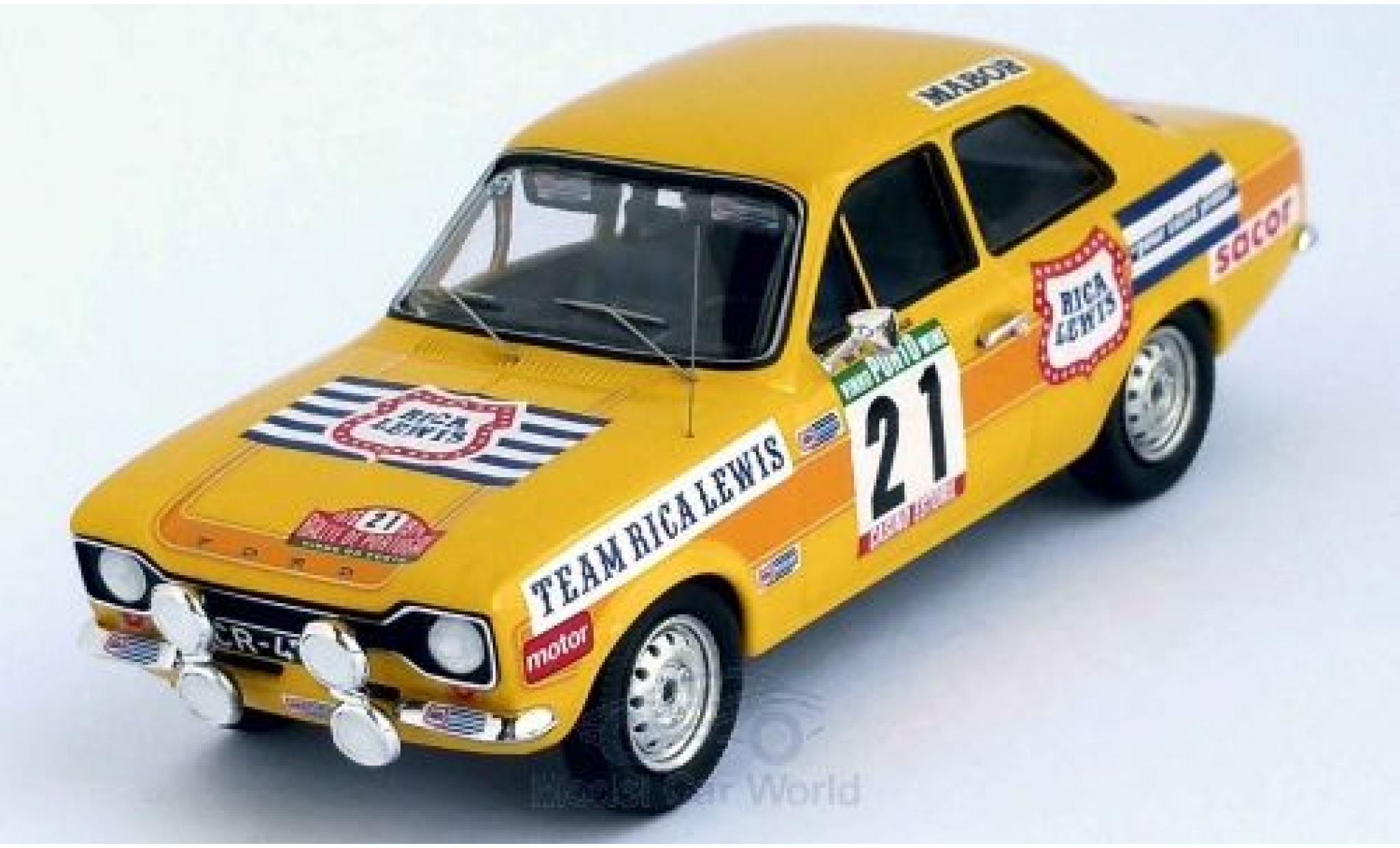 Ford Escort 1/43 Trofeu MK I RS 2000 No.21 Team Rica Lewis Rallye WM Rally Portugal 1976 G.Salvi/P.de Almeida