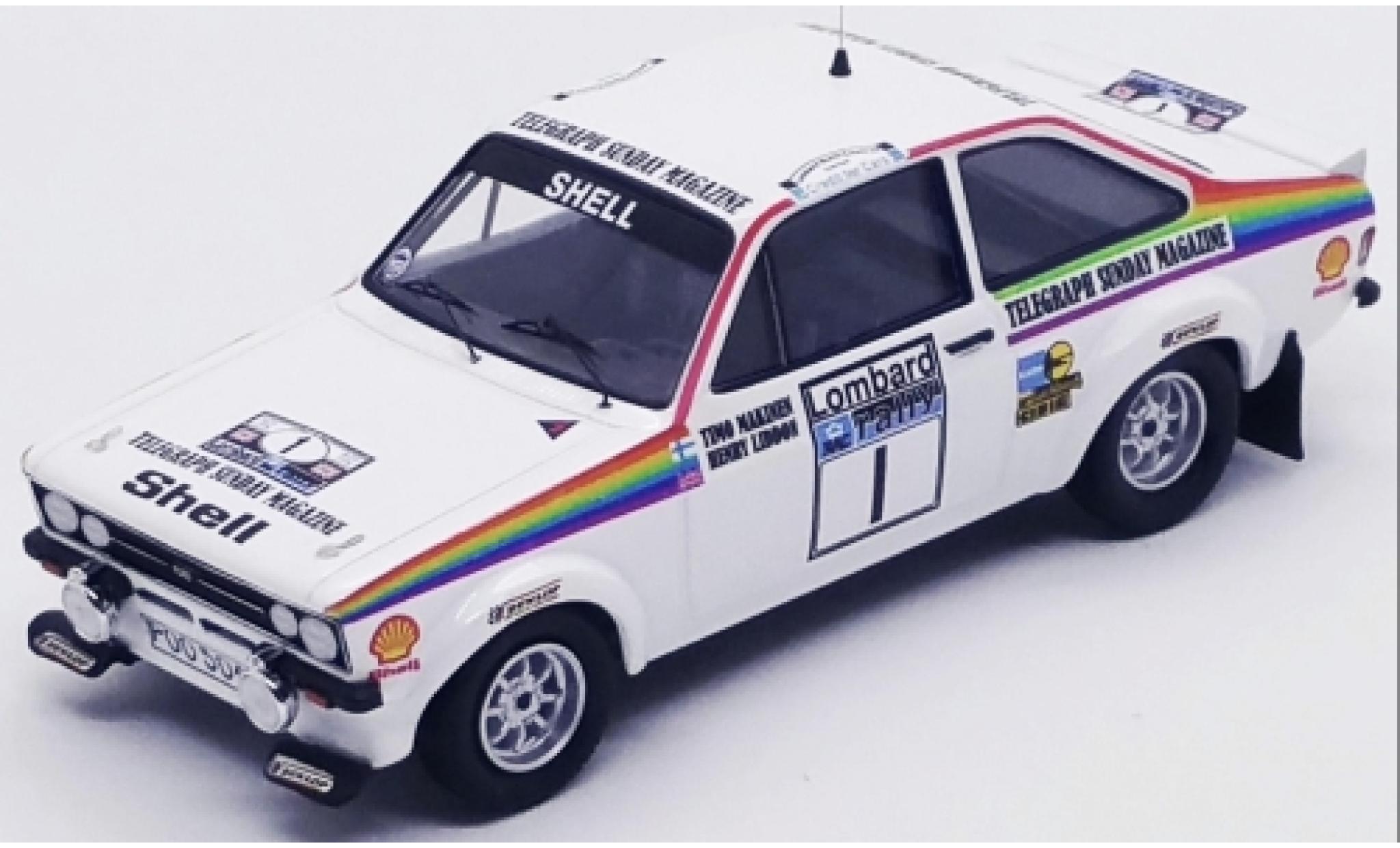 Ford Escort 1/43 Trofeu MK II RS 1800 No.1 Rallye WM RAC Rallye 1976 T.Makinen/H.Liddon