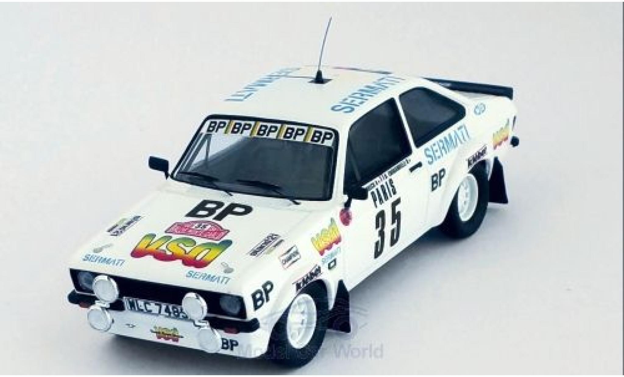 Ford Escort 1981 1/43 Trofeu MK II RS 1800 No.35 vsd Rallye WM Rallye Monte Carlo D.Snobeck/D.Emmanuelli