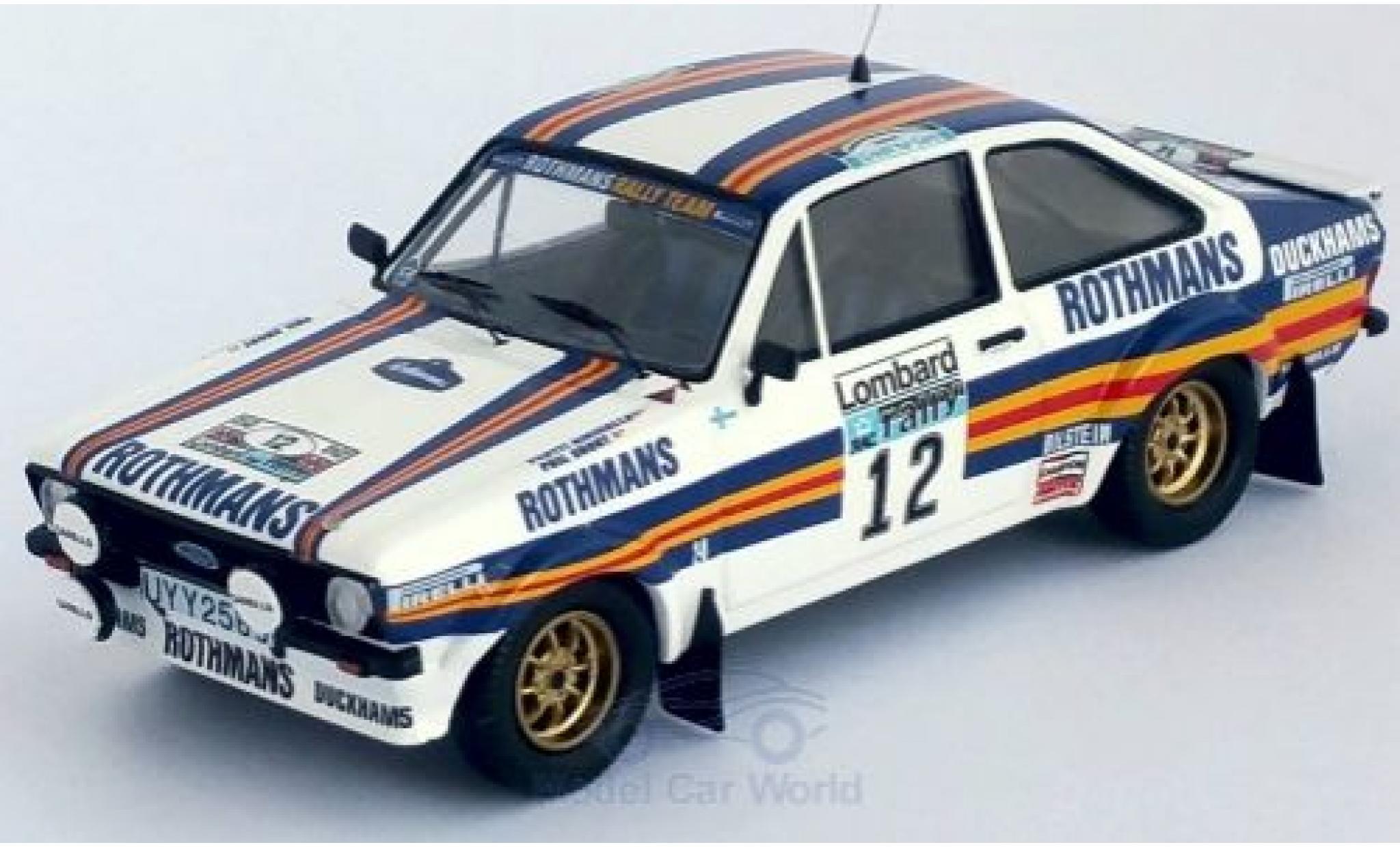 Ford Escort 1/43 Trofeu MK II RS No.12 Rothmans Rally Team Rothmans Rallye WM RAC Rallye 1981 P.Airikkala/P.Short