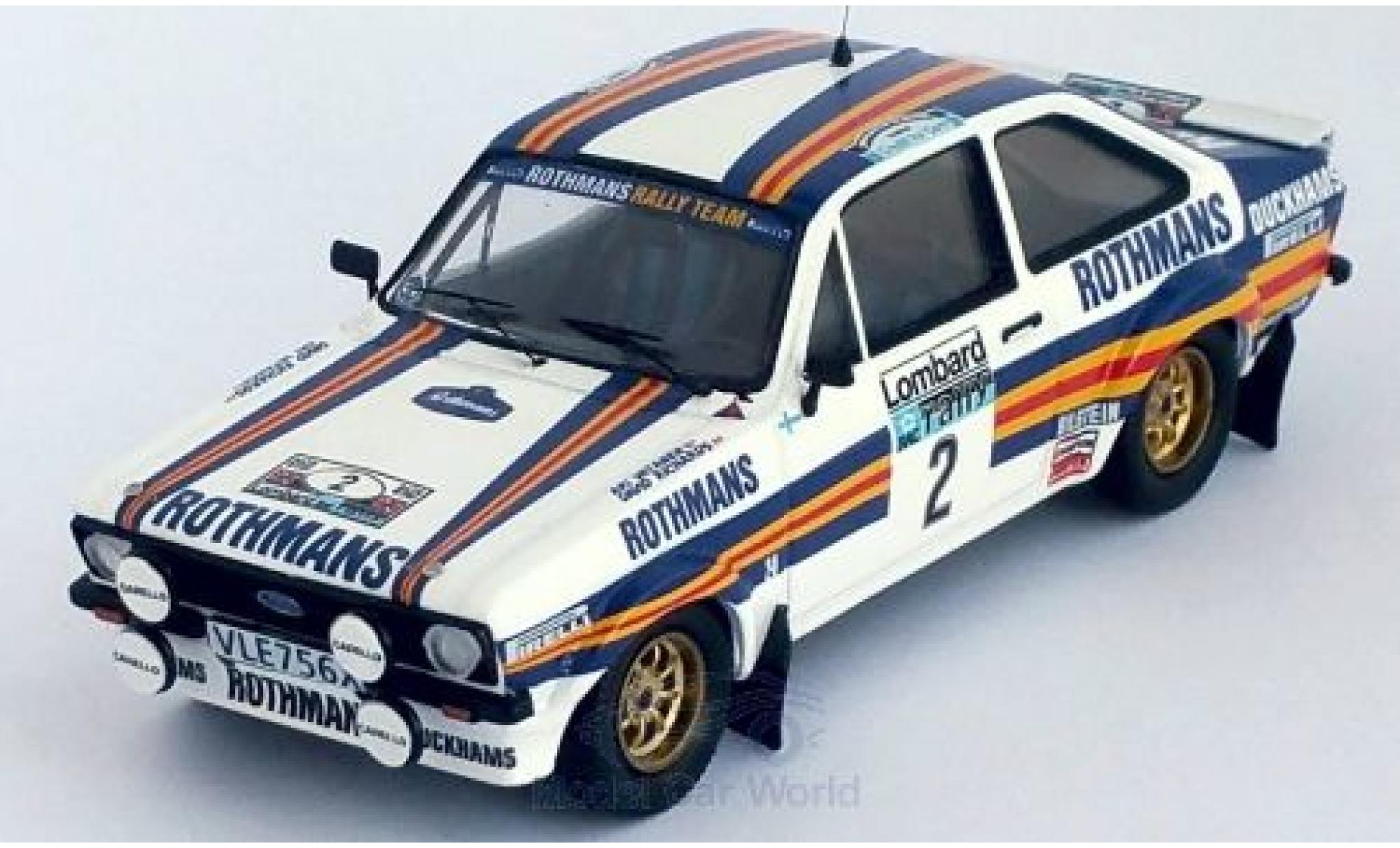 Ford Escort 1/43 Trofeu MK II RS No.2 Rothmans Rally Team Rothmans Rallye WM RAC Rallye 1981 A.Vatanen/D.Richards