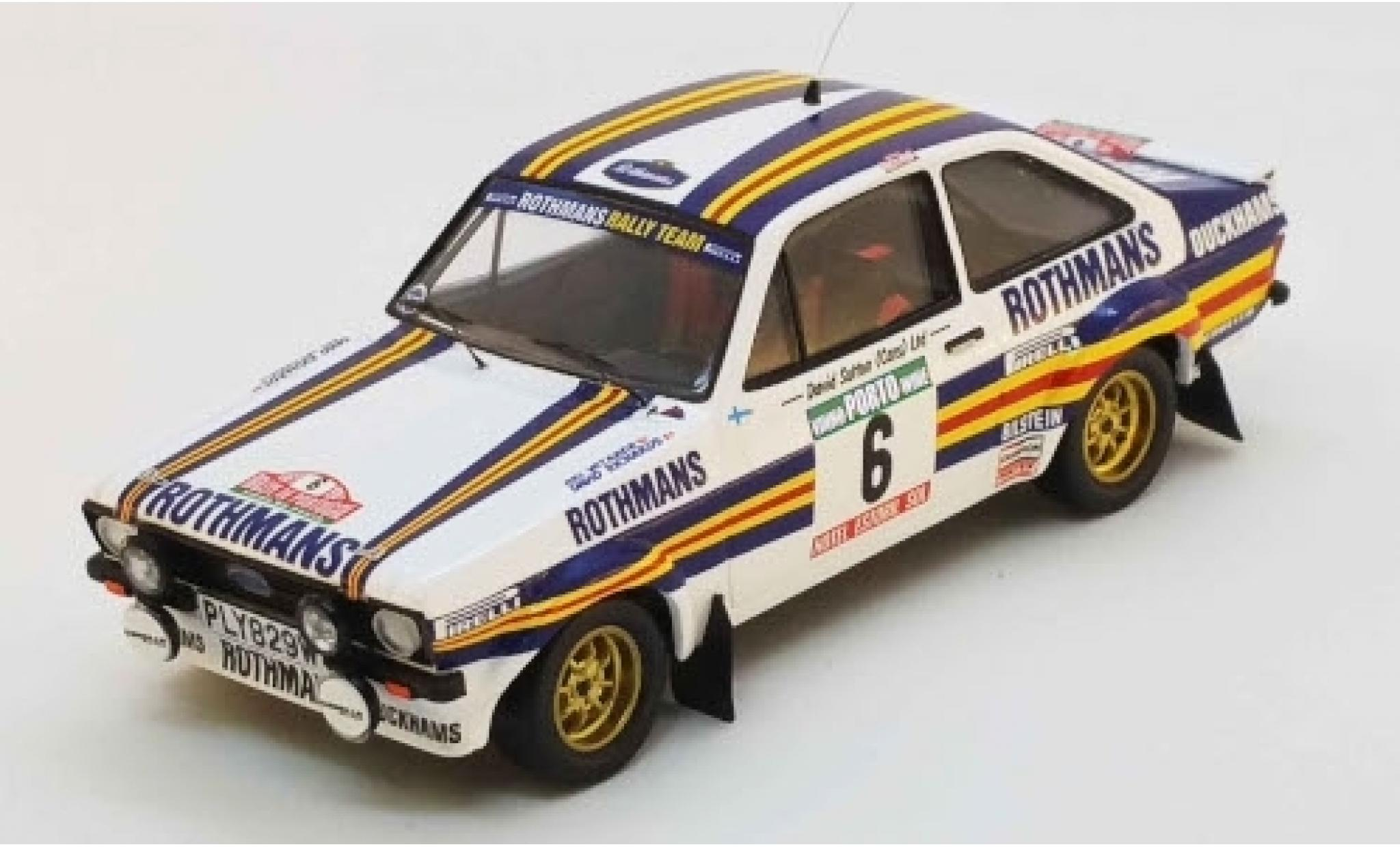 Ford Escort 1/43 Trofeu MK II RS No.6 Rothmans Rallye WM Rally Portugal 1981 A.Vatanen/D.Richards