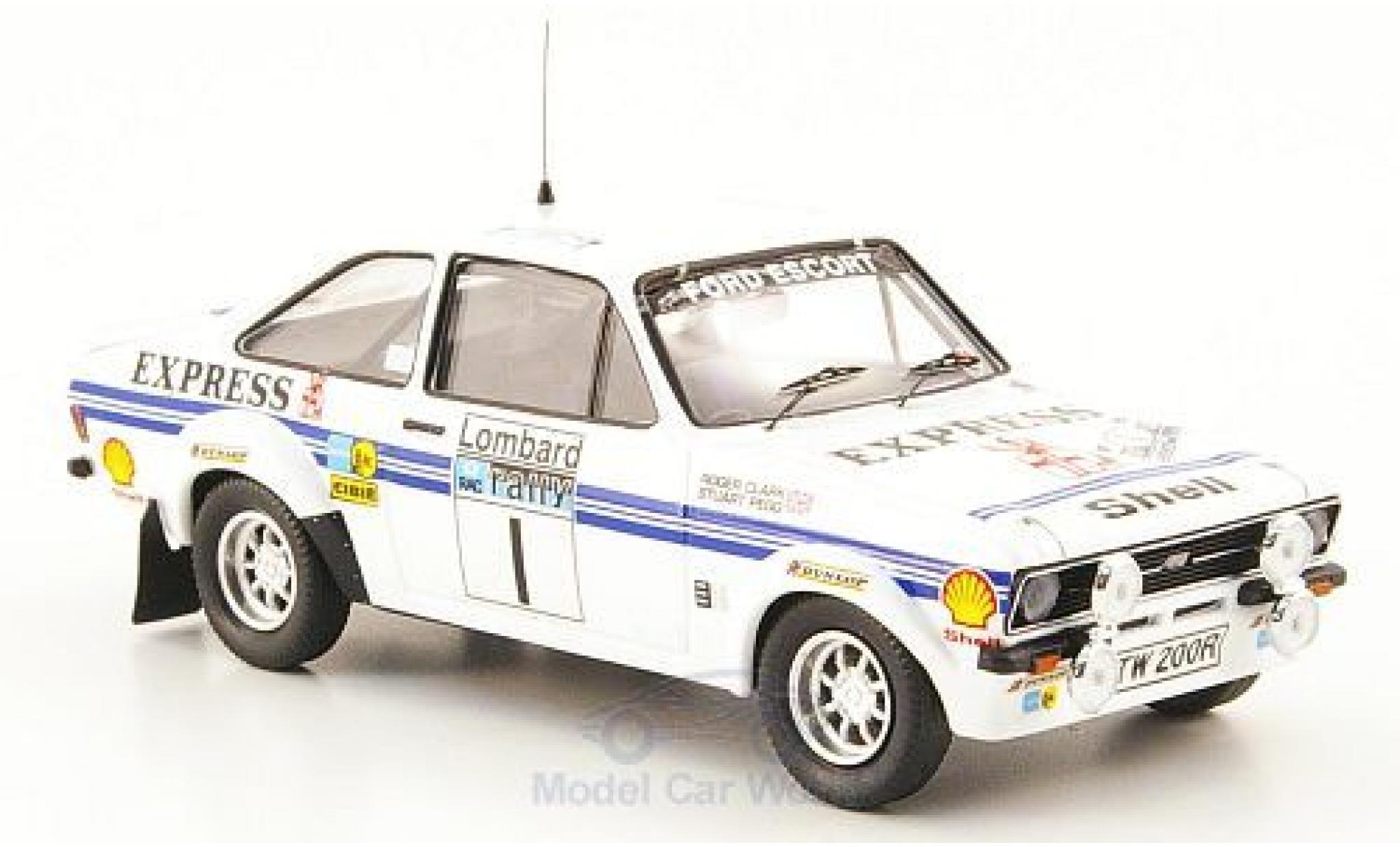 Ford Escort MKI 1/43 Trofeu I RS 1800 No.1 Express Rallye WM RAC Rallye 1977 R.Clark/S.Pegg