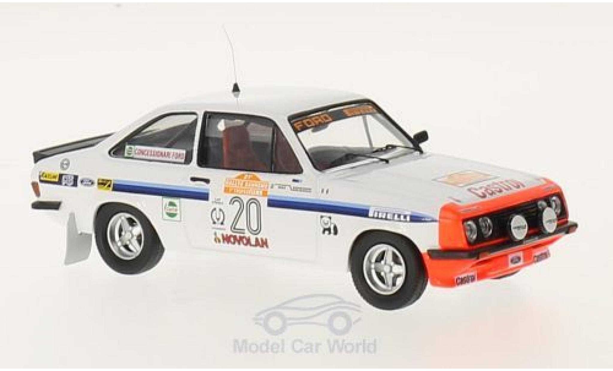 Ford Escort MKI 1/43 Trofeu I RS 2000 No.20 Rallye WM Rallye San Remo 1979 A.Presotto/M.Sghedoni