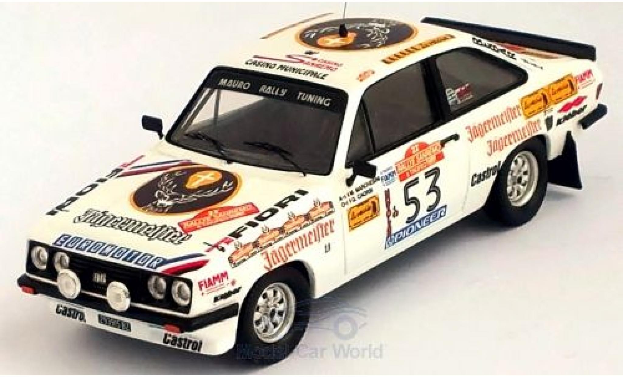 Ford Escort 1/43 Trofeu MKII RS 2000 No.53 Rallye WM Rally San Remo 1980 M.Marchesini/G.Caorsi