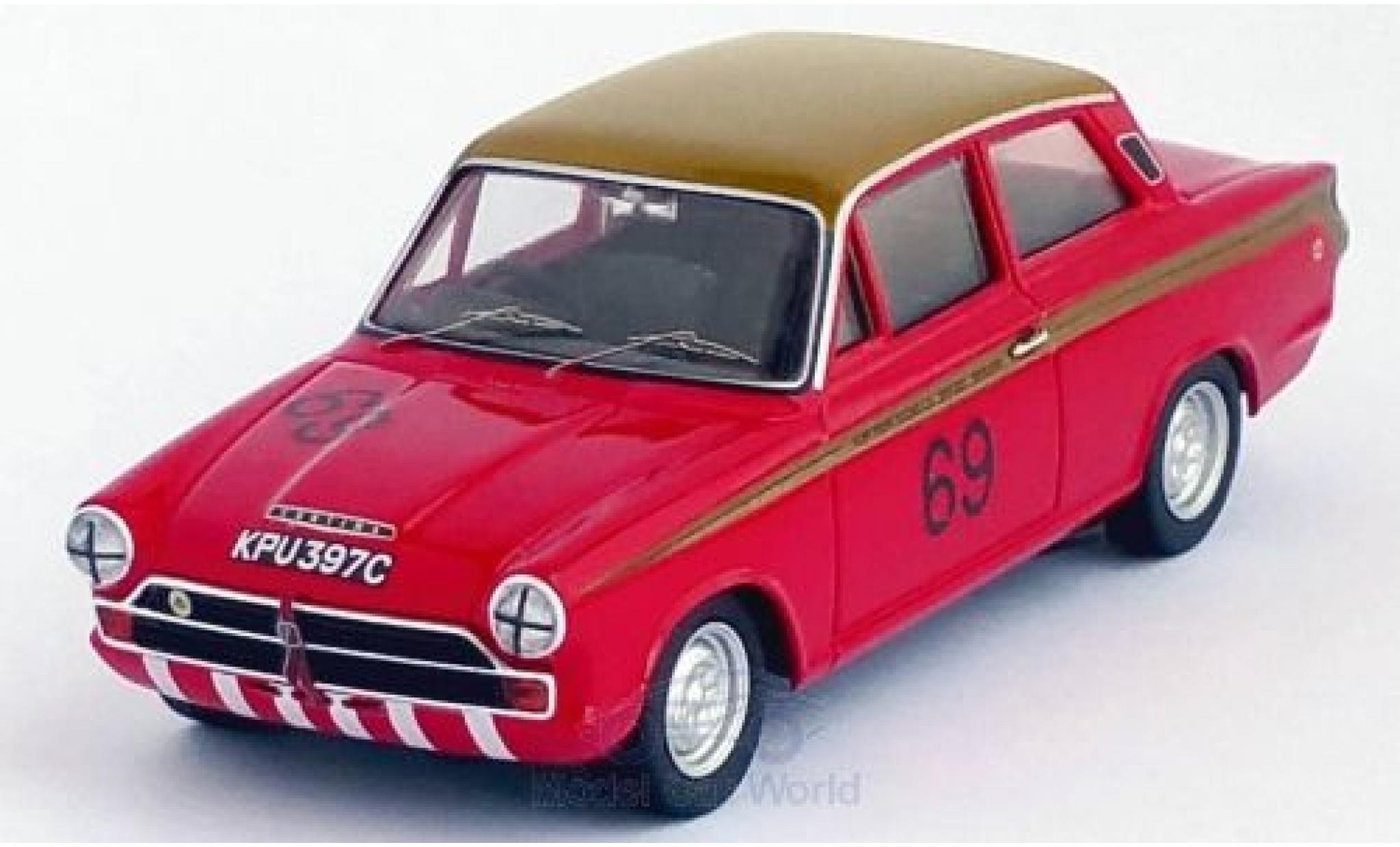 Ford Lotus 1/43 Trofeu Cortina RHD No.69 Alan Mann Racing Coupes de Belgique 1965 J.Ickx