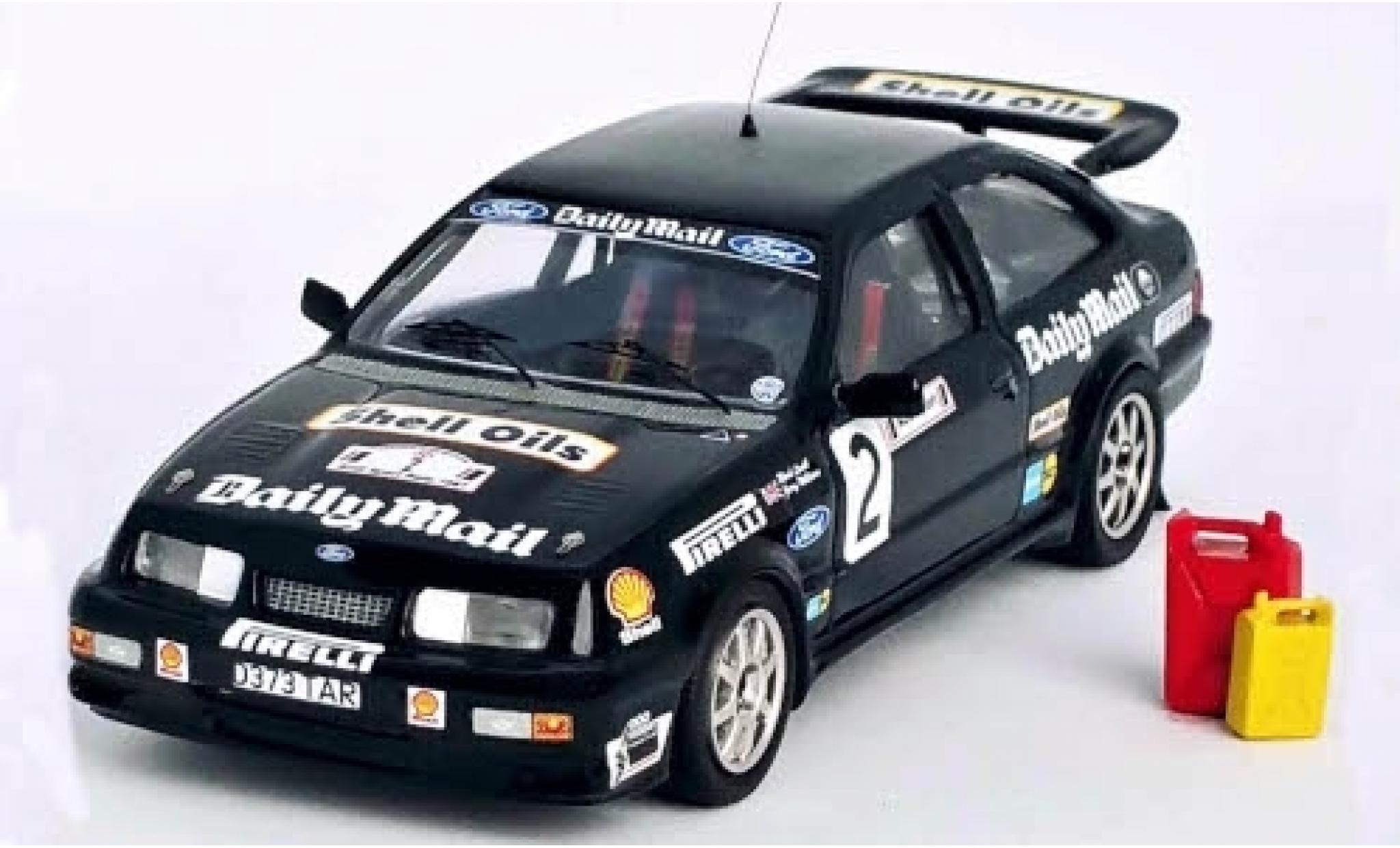 Ford Sierra 1/43 Trofeu RS Cosworth No.2 Daily Mail Audi Sport Rally 1987 avec plinthe M.Lovell/J.Williams
