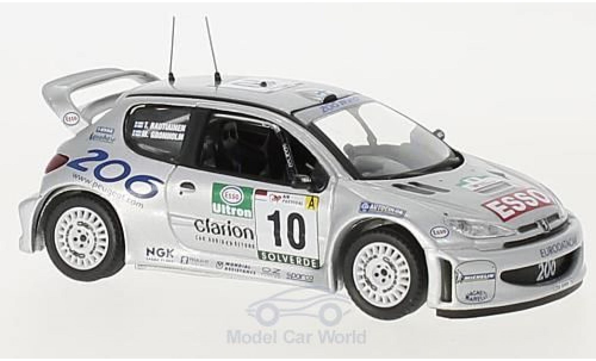 Peugeot 206 WRC 1/43 Trofeu WRC No.10 Rallye WM Rallye Portugal 2000 M.Grönholm/T.Rautiainen