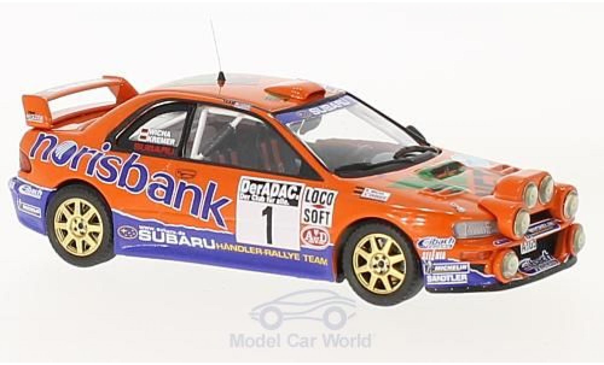 Subaru Impreza WRC 1/43 Trofeu S4 98 No.1 Norisbank Rallye DM Rallye Deutschland 2000 mit Zusatzscheinwerfer A.Kremer/K.Wicha