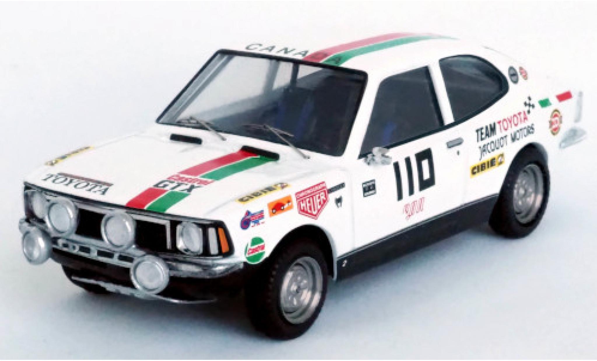 Toyota Corolla 1/43 Trofeu Levin No.110 Team Jacquot Motors Castrol Rally Press-on-Regardless 1973 W.Boyce/D.Woods