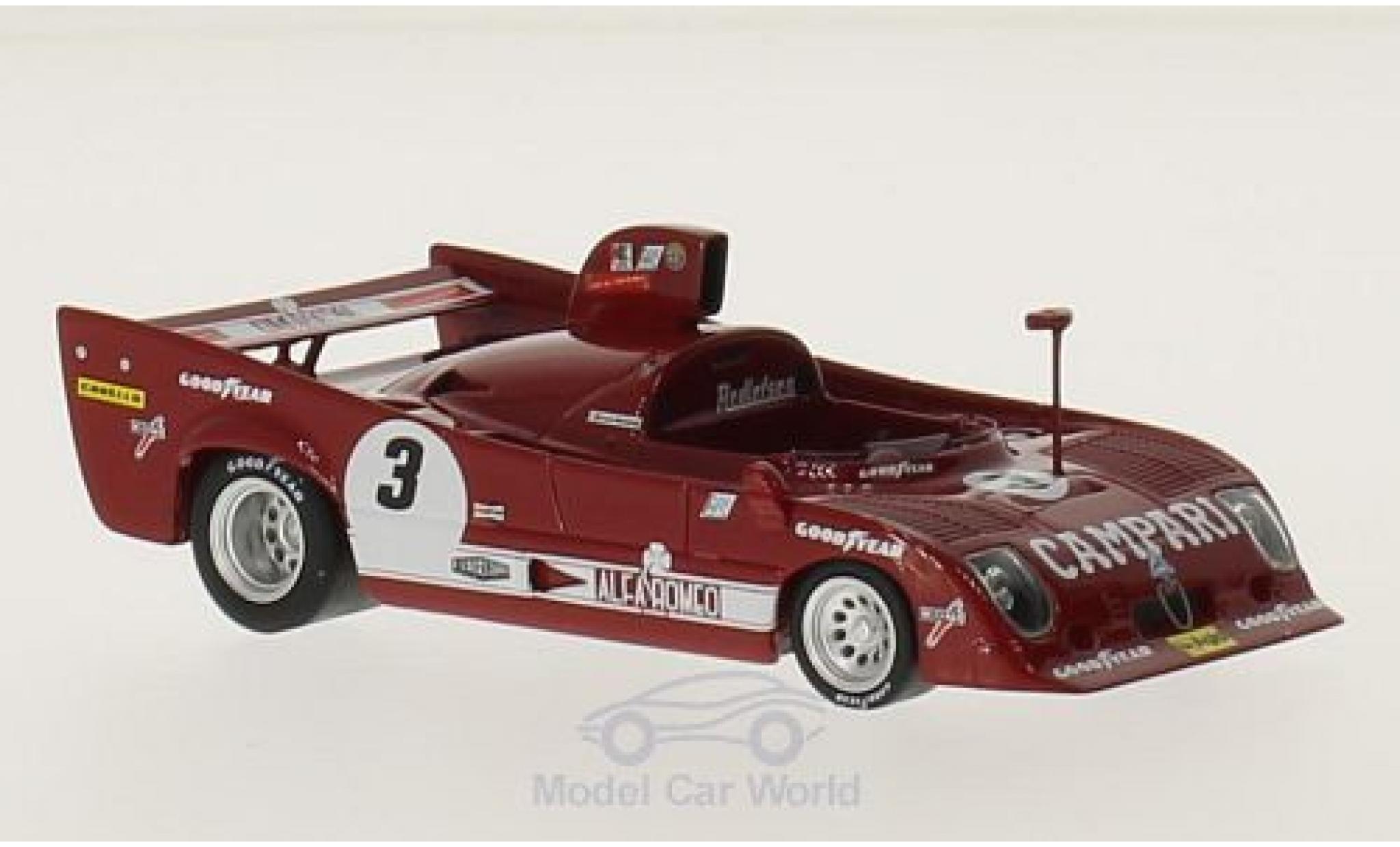 Alfa Romeo T33 1/18 TrueScale Miniatures TT 12 RHD No.3 Campari 6h Watkins Glen 1975 M.Andretti/A.Merzario