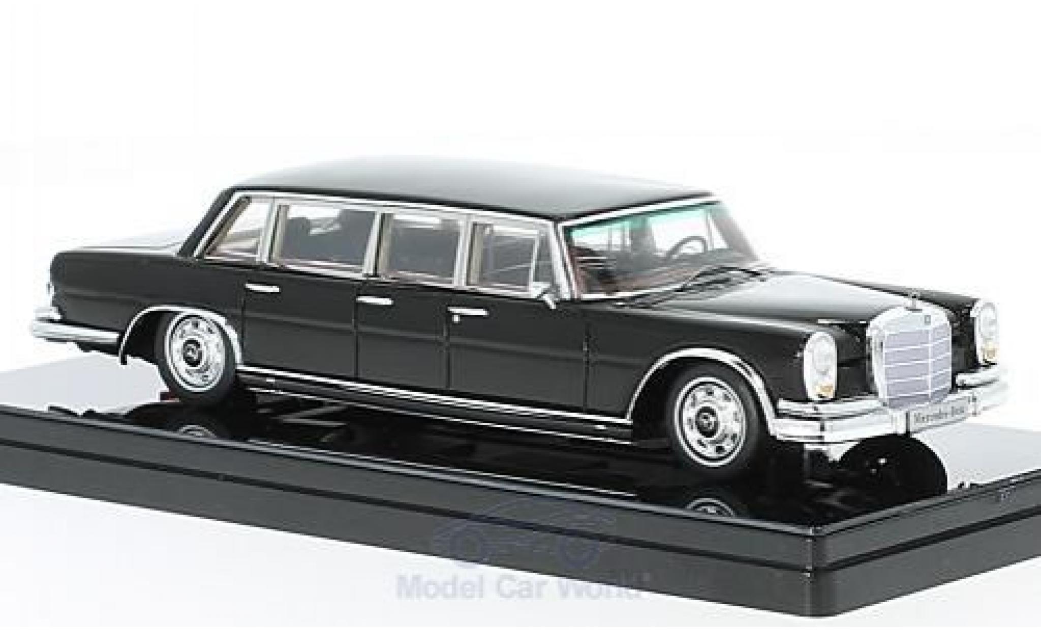 Mercedes 600 1/43 TrueScale Miniatures Pullman noire 1964 6-door