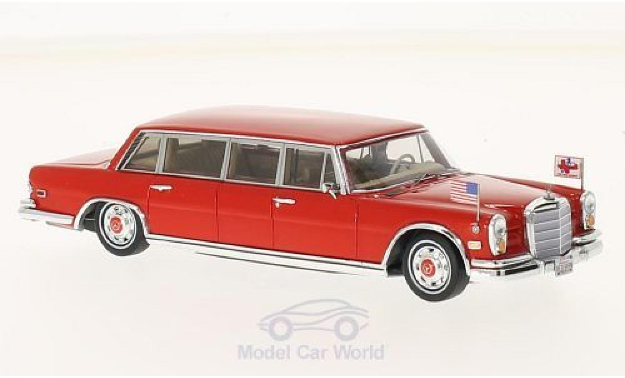 Mercedes 600 Pullmann 1/43 TrueScale Miniatures 1972 Red Baron Hilton Family
