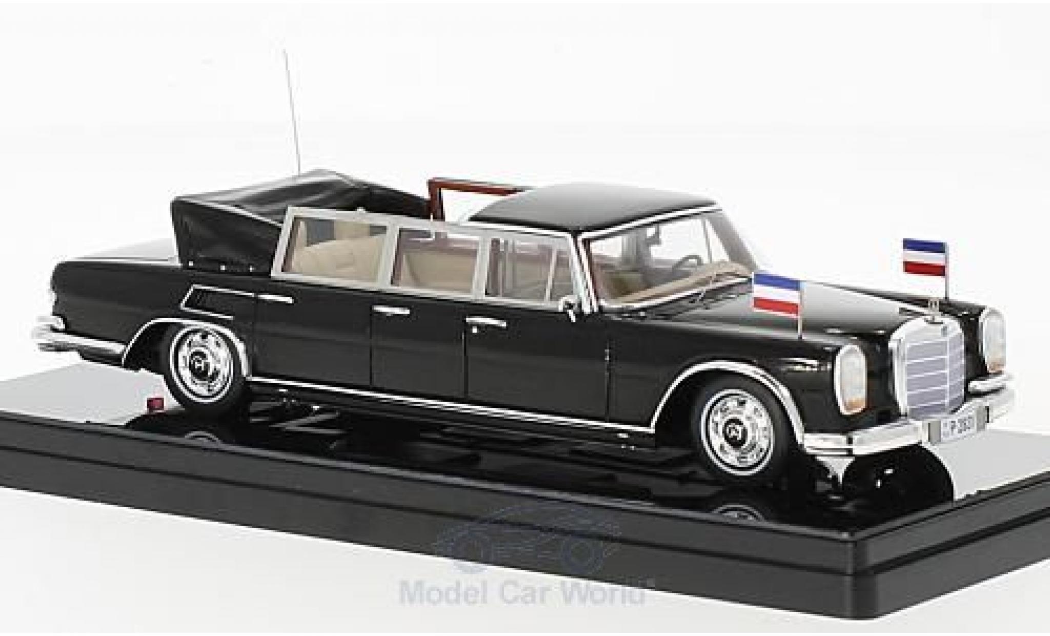 Mercedes 600 Pullmann 1/43 TrueScale Miniatures Landaulet noire Josip Broz Tito President of Yugoslavia 1967
