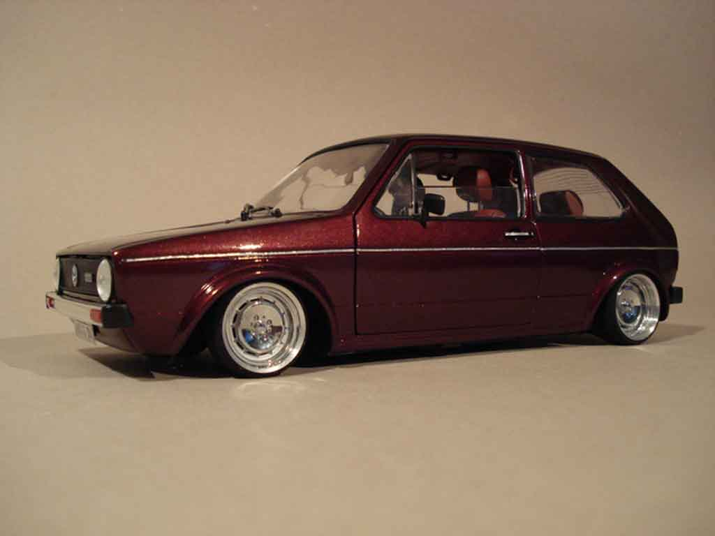 Volkswagen Golf 1 GTI 1/18 Solido German Look bloc moteur 16s tuning miniature