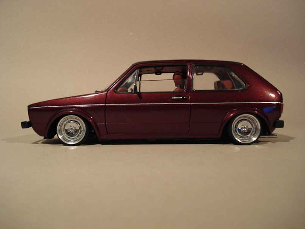 Volkswagen Golf 1 GTI 1/18 Solido German Look bloc moteur 16s