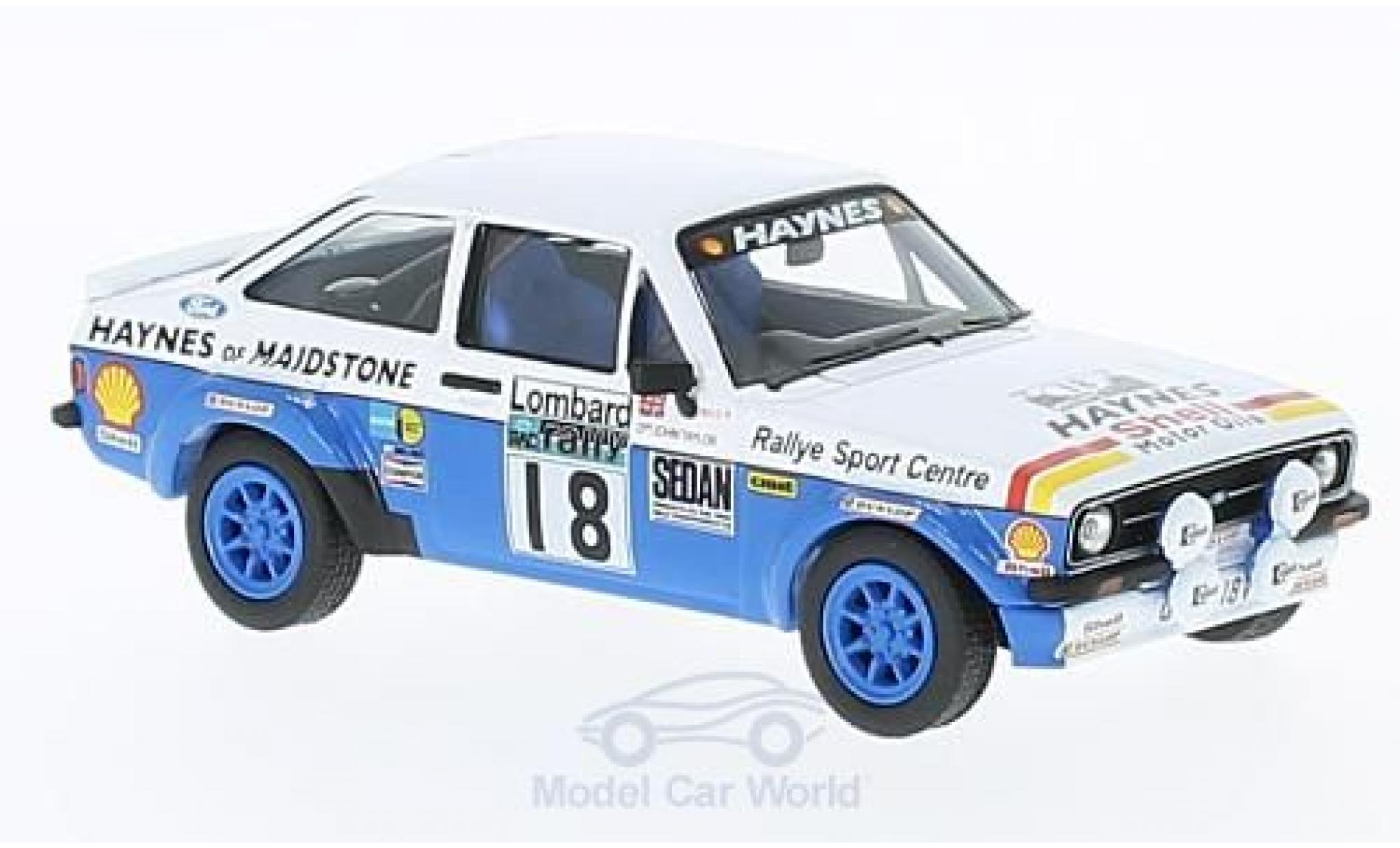 Ford Escort 1/43 Vanguards MK2 RS 1800 RHD No.18 Rallye WM RAC Rallye J.Taylor/P.Short