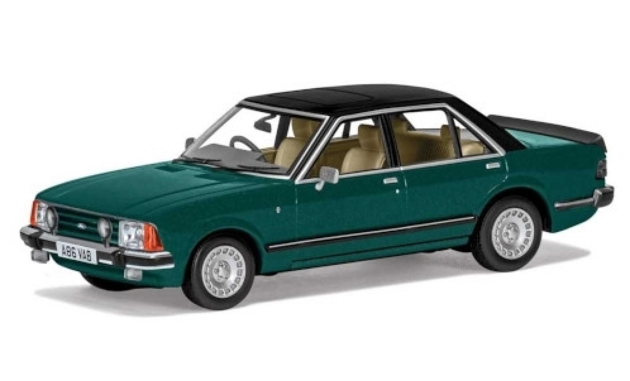 Ford Granada 1/43 Vanguards MkII 2.8i Ghia verte/matt-marron RHD 1977
