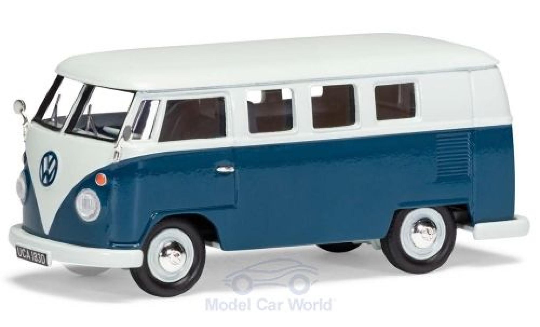 Volkswagen T1 1/43 Vanguards (Typ 2) Camper white/blue RHD