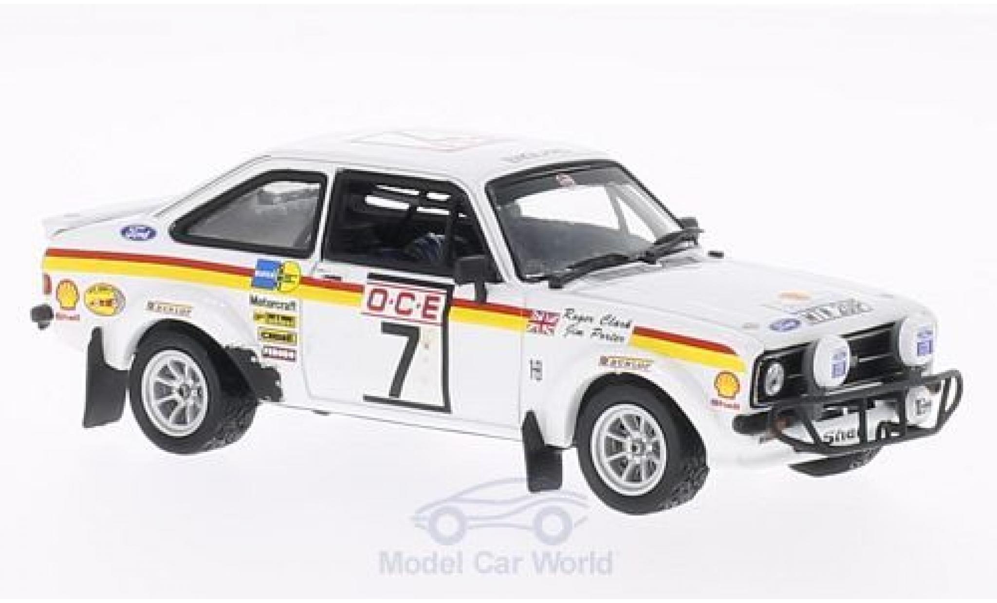 Ford Escort MKI 1/43 Vitesse MKII 1800 No.7 GP Marokko 1976 R.Clark/J.Porter