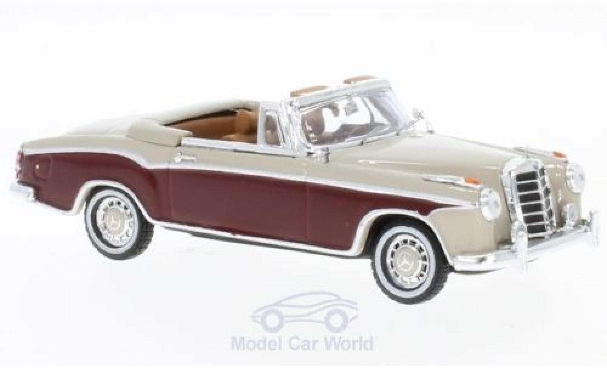 Mercedes 220 SE 1/43 Vitesse SE Cabriolet beige/dunkelrouge 1958