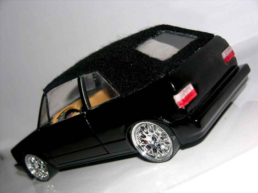 volkswagen golf 1 cabriolet miniature noire jantes bbs german look sun star 1 18 voiture. Black Bedroom Furniture Sets. Home Design Ideas