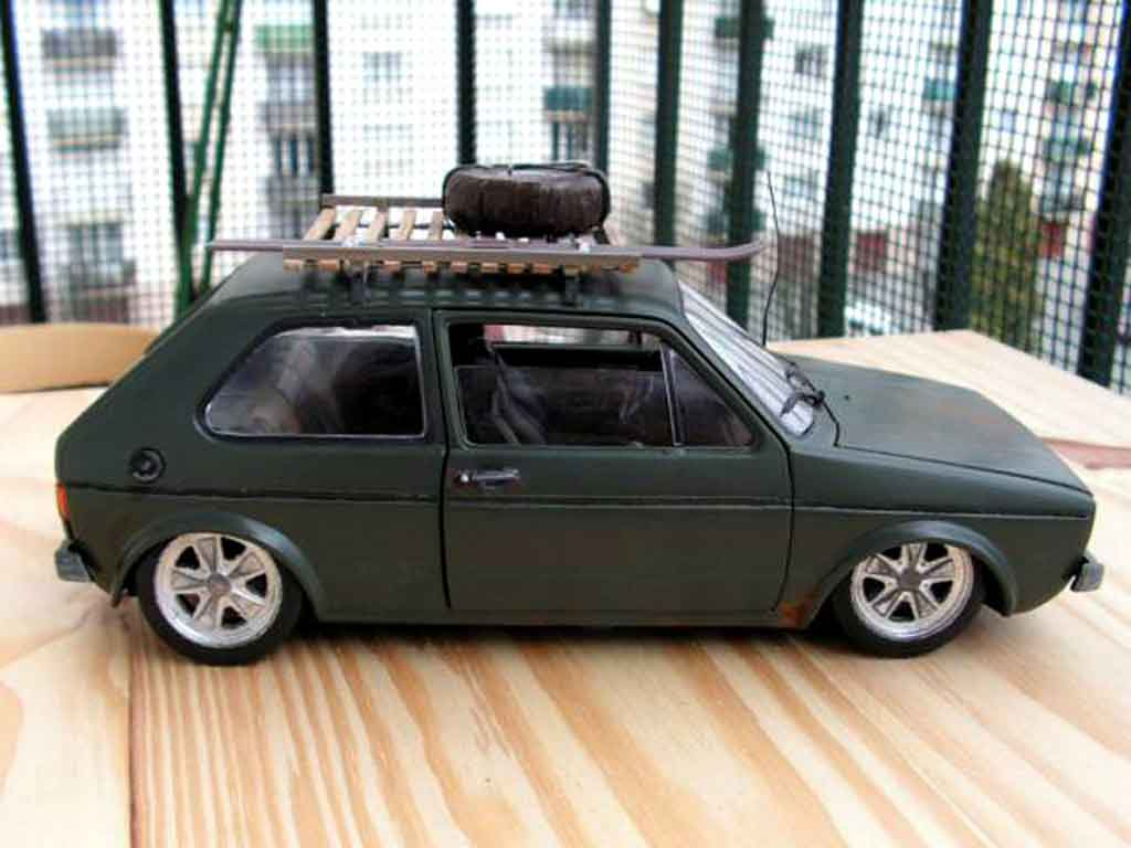 Volkswagen Golf 1 GTI 1/18 Solido rusty tuning miniature