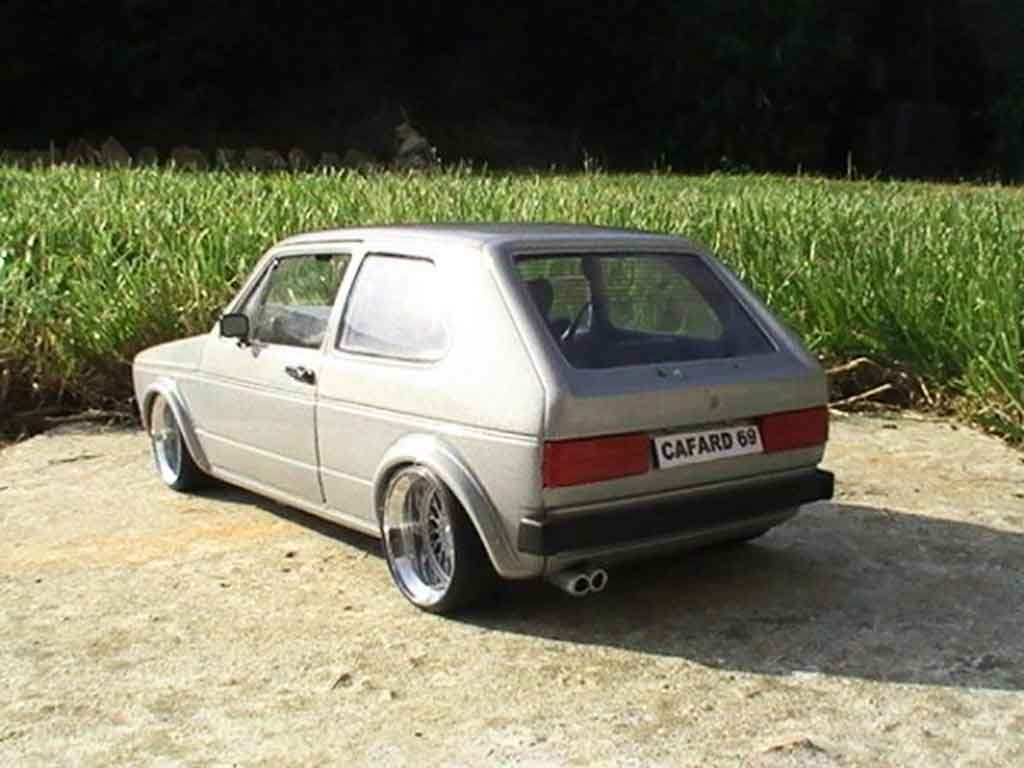 Volkswagen Golf 1 GTI 1/18 Solido swap vr6 grey audi jantes a deport
