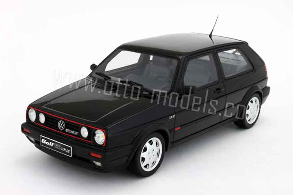 volkswagen golf 2 gti miniature 16s noire 1990 ottomobile 1 18 voiture. Black Bedroom Furniture Sets. Home Design Ideas