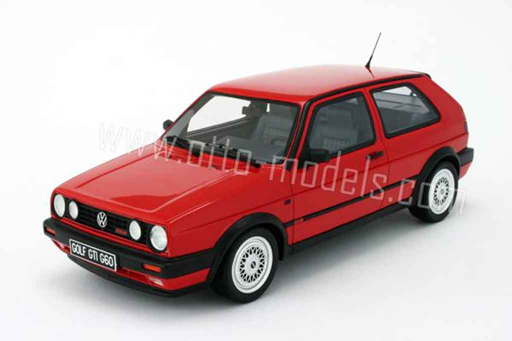 Volkswagen Golf 2 G60 1/18 Ottomobile rouge 1990 miniature