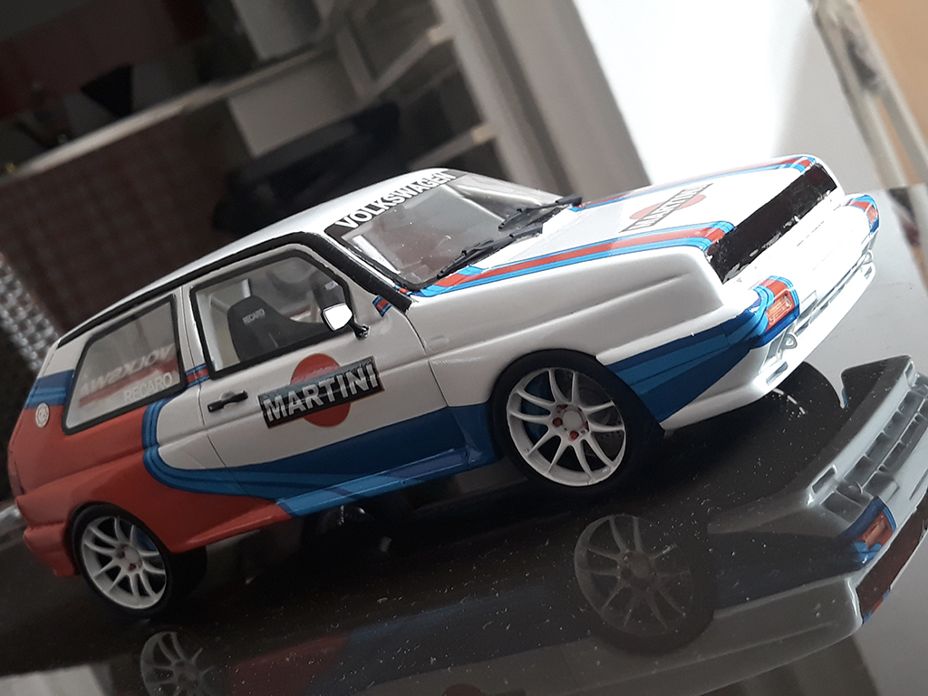Volkswagen Golf 2 Rallye 1/18 Ottomobile G60 martini tuning miniature