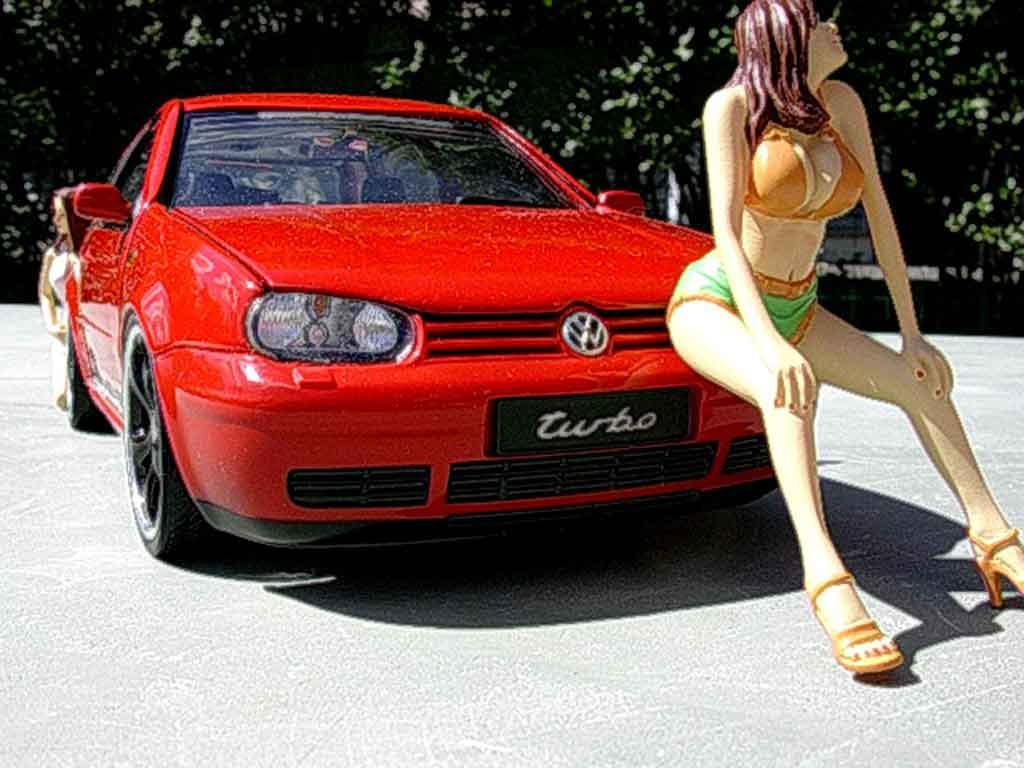 Volkswagen Golf 4 GTI 1/18 Revell turbo swap moteur audi tt