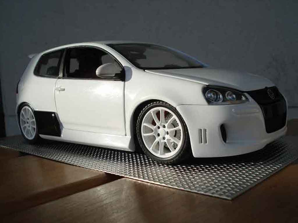 Volkswagen Golf V GTI 1/18 Norev white hofele spirit tuning diecast model cars