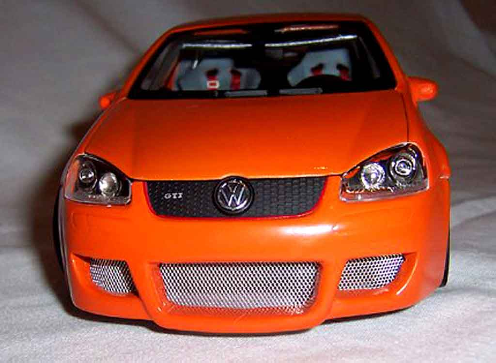 volkswagen golf v gti miniature orange jantes bbs 19. Black Bedroom Furniture Sets. Home Design Ideas